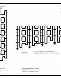 Placaje ceramice pentru fatada - Montaj orizontal - Ajustarea inlatimii prin taierea placilor