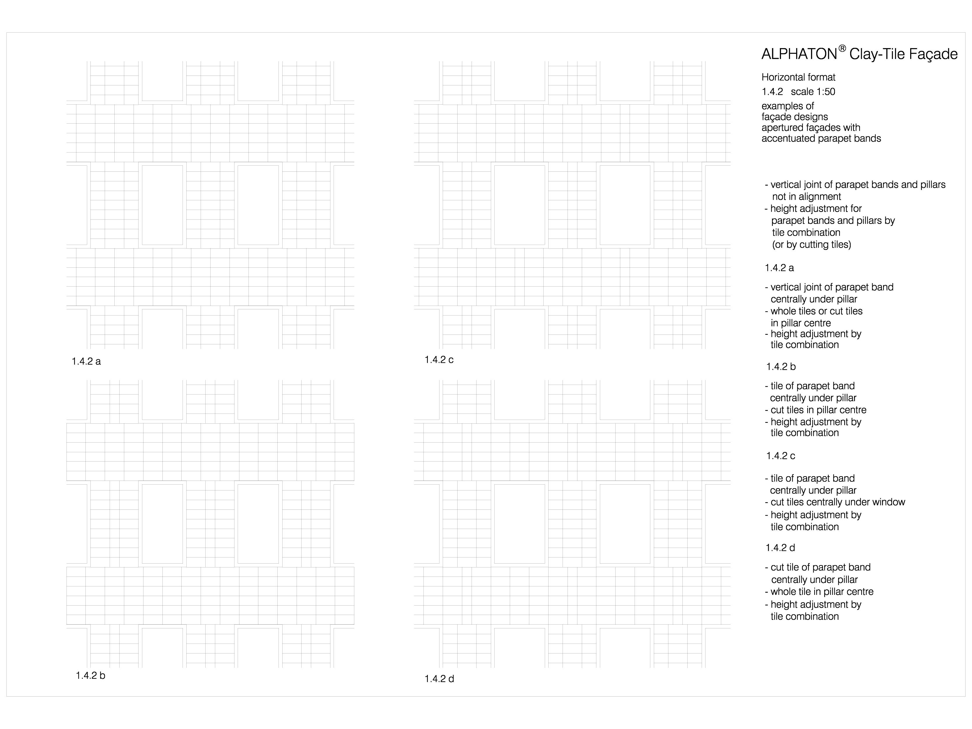 Pagina 1 - CAD-DWG Placaje ceramice pentru fatada - Montaj orizontal - Exemple de design...