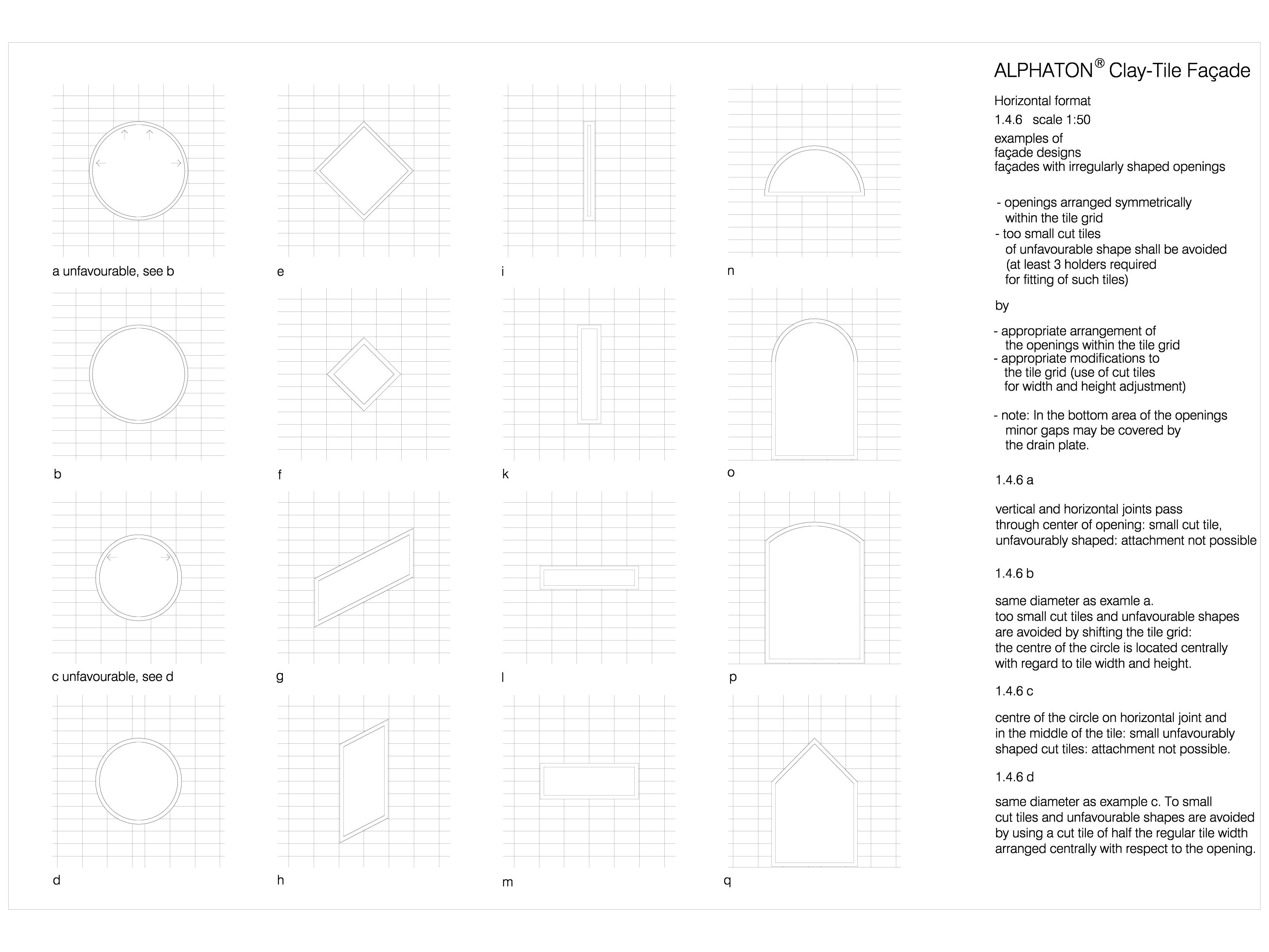 Pagina 1 - CAD-DWG Placaje ceramice pentru fatada - Incadrarea golurilor neregulate in fatada...