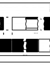 Placaje ceramice pentru fatada - Baghete de dimensiuni standard - Plan si sectiune verticala