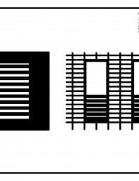 Placaje ceramice pentru fatada  - Montaj orizontal - Exemple de design (Stereotomie) pentru fatada cu baghete