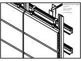 Placaje ceramice pentru fatada - Montaj orizontal - Vedere izometrica ALPHATON