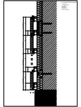 Placaje ceramice pentru fatada - Montaj orizontal pe structura de aluminiu - Sectiune verticala ALPHATON