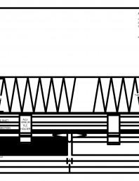 Placaje ceramice pentru fatada - Montaj orizontal pe structura de aluminiu - Sectiune orizontala