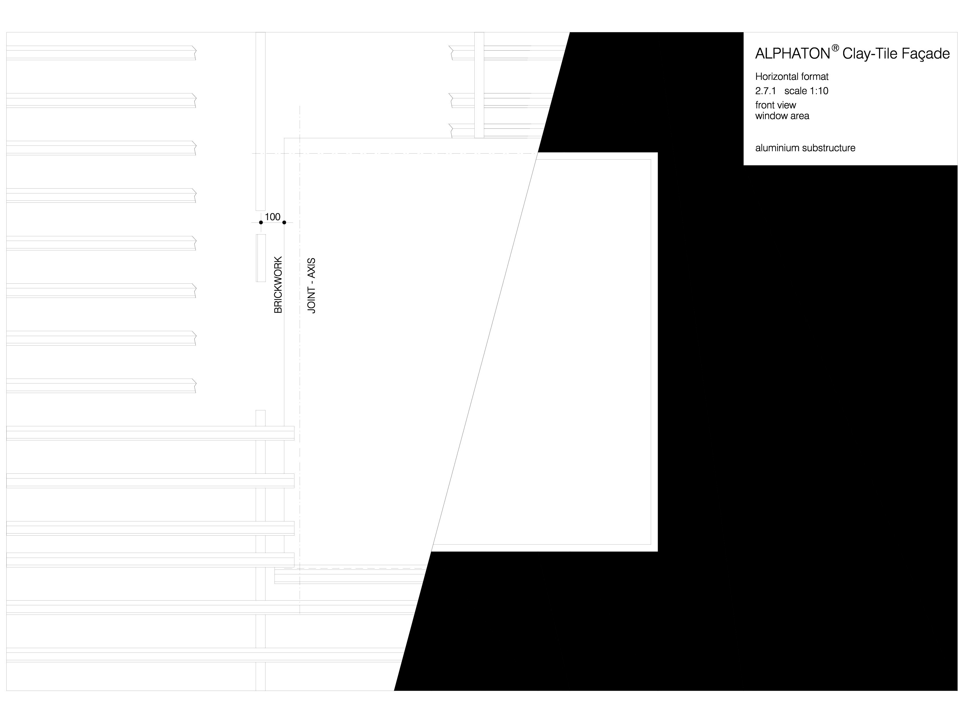 Pagina 1 - CAD-DWG Placaje ceramice pentru fatada - Montaj orizontal pe structura de aluminiu -...
