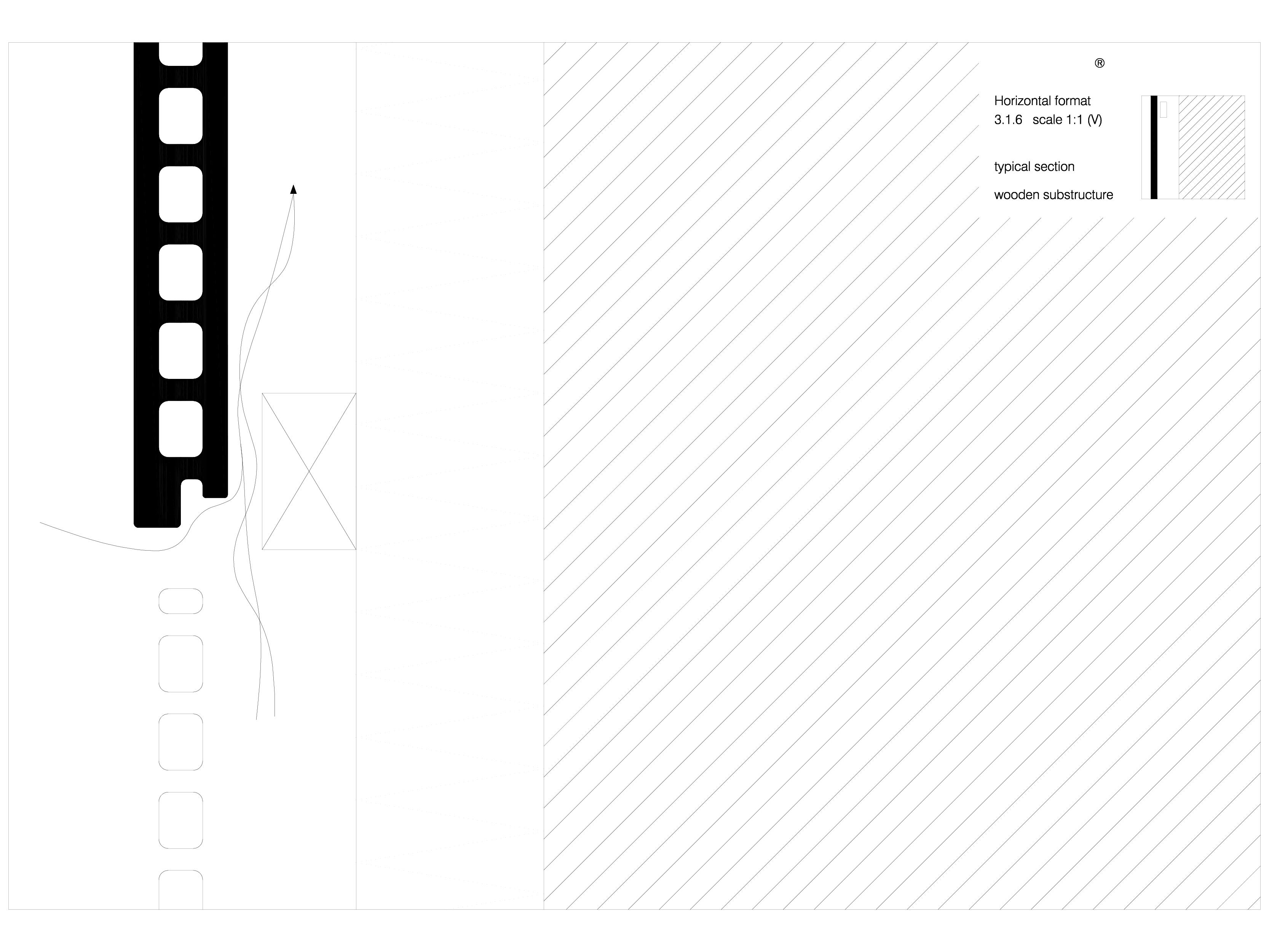 Pagina 1 - CAD-DWG Placaje ceramice pentru fatada - Montaj orizontal pe structura de lemn - Sectiune...
