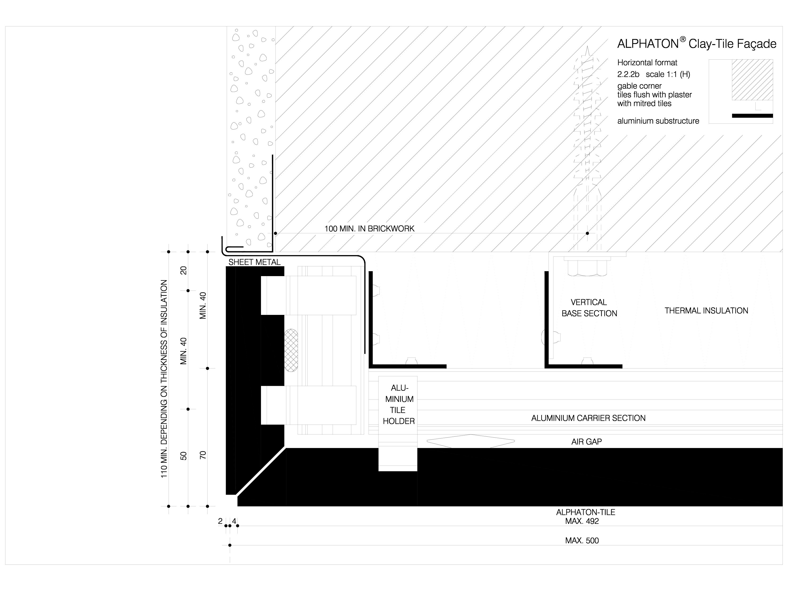 Pagina 1 - CAD-DWG Sisteme de placaje ceramice pentru fatada - Montaj orizontal pe structura de...