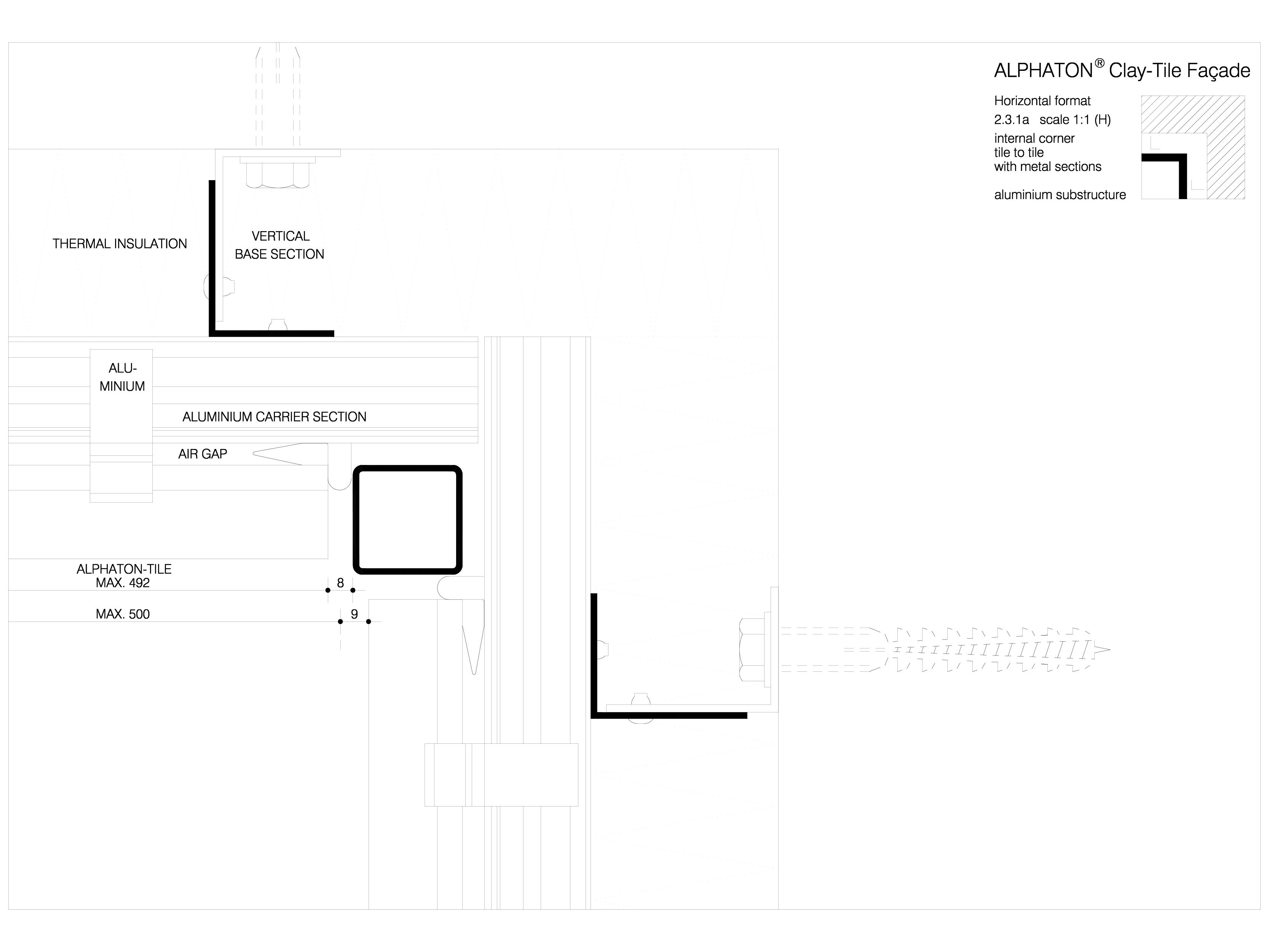 Pagina 1 - CAD-DWG Sisteme de placaje ceramice pentru fatada - 2311 ALPHATON Detaliu de produs...