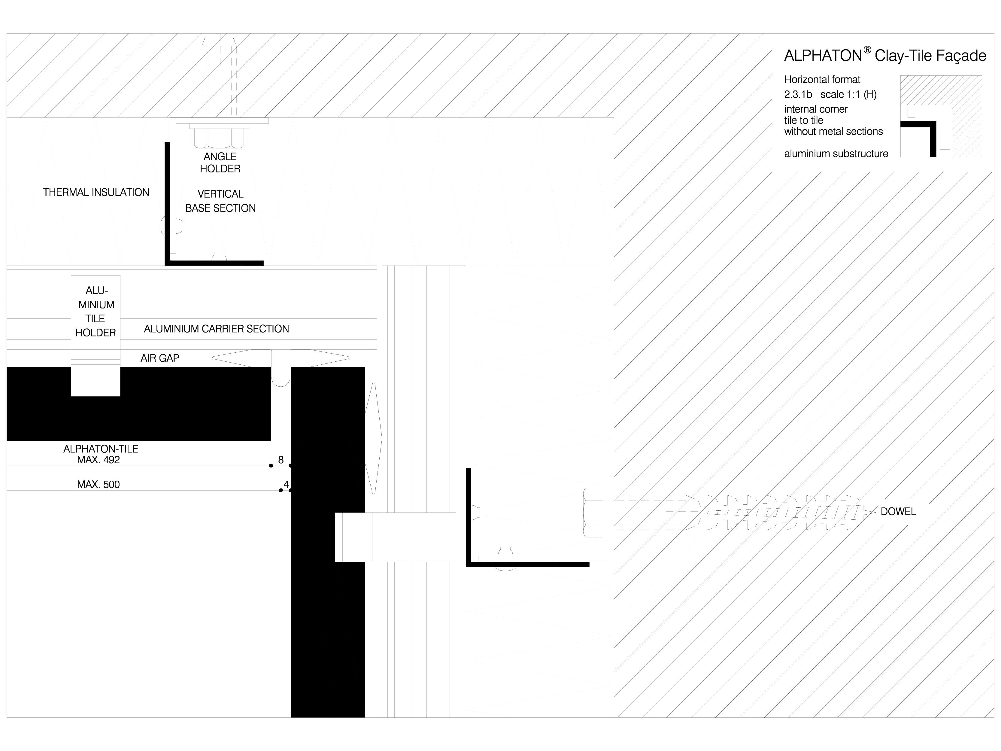 Pagina 1 - CAD-DWG Sisteme de placaje ceramice pentru fatada - 2312 ALPHATON Detaliu de produs...