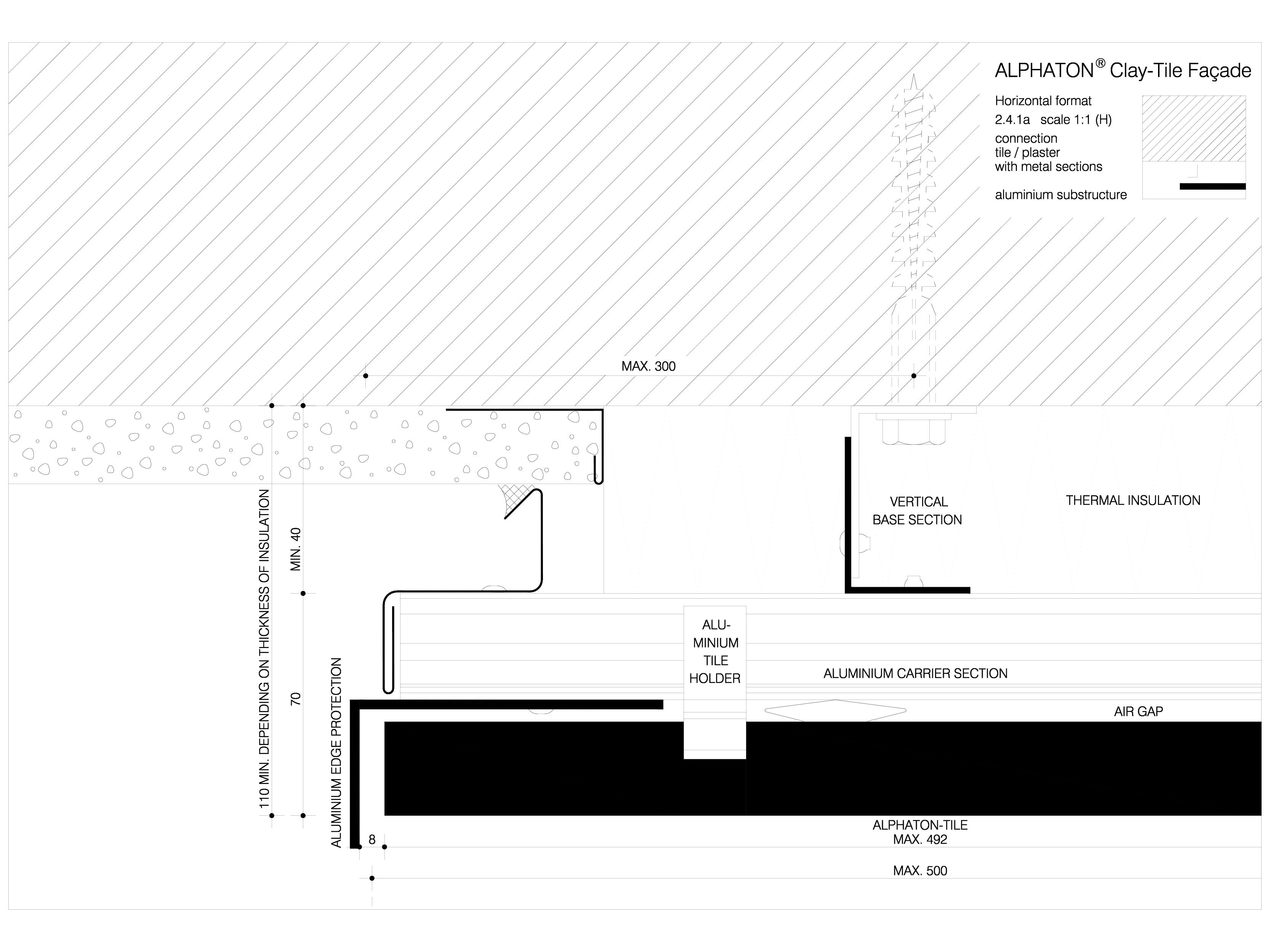 Pagina 1 - CAD-DWG Sisteme de placaje ceramice pentru fatada - 2411 ALPHATON Detaliu de produs...
