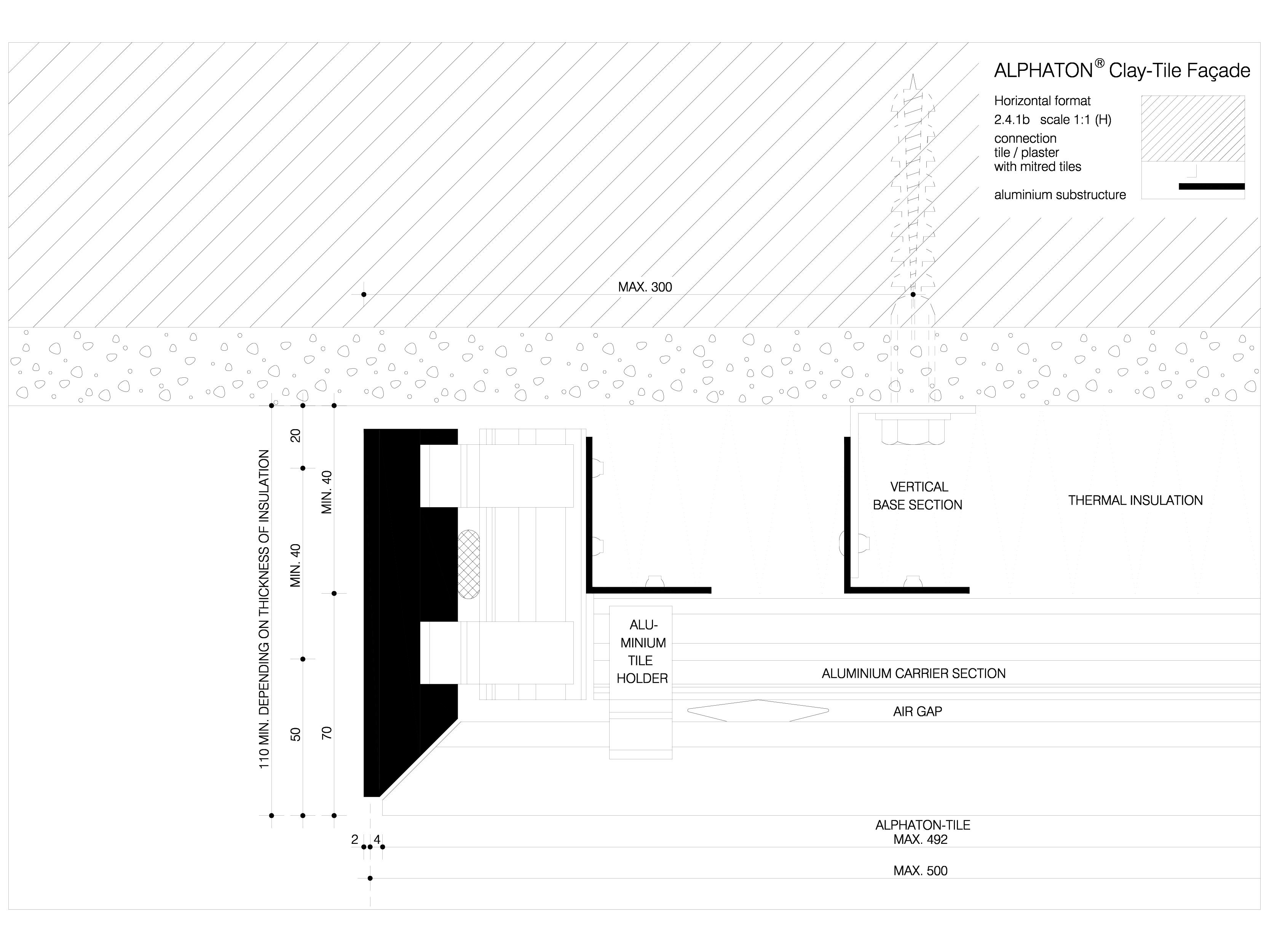 Pagina 1 - CAD-DWG Sisteme de placaje ceramice pentru fatada - 2412 ALPHATON Detaliu de produs...