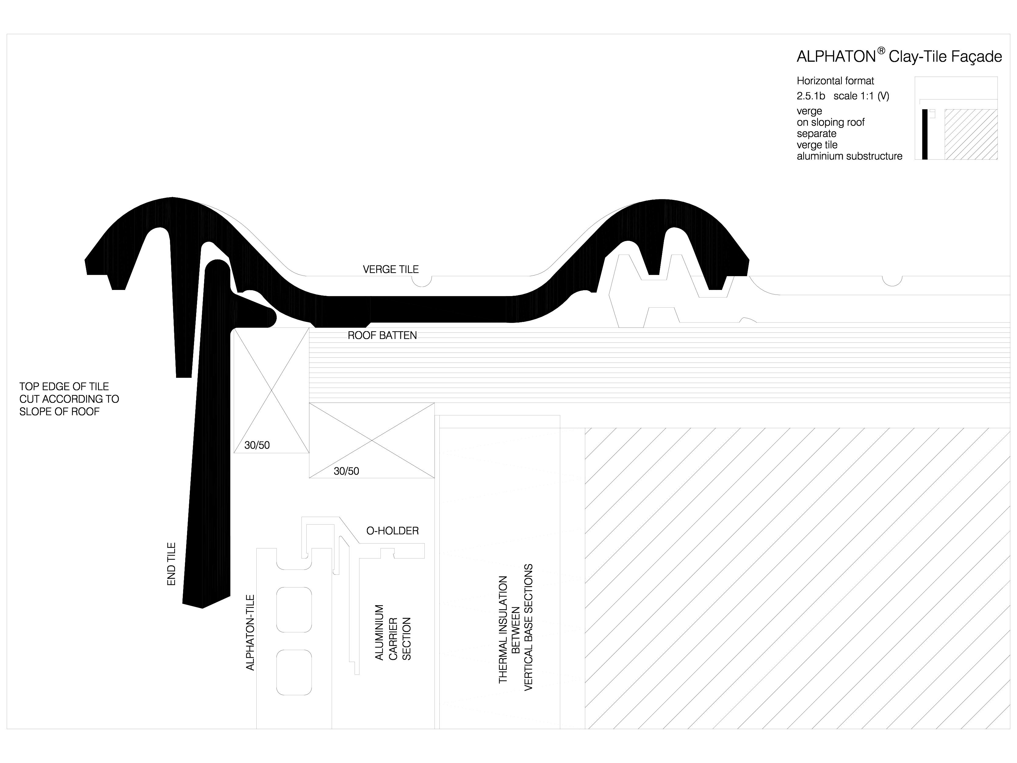 Pagina 1 - CAD-DWG Sisteme de placaje ceramice pentru fatada - 2512 ALPHATON Detaliu de produs...