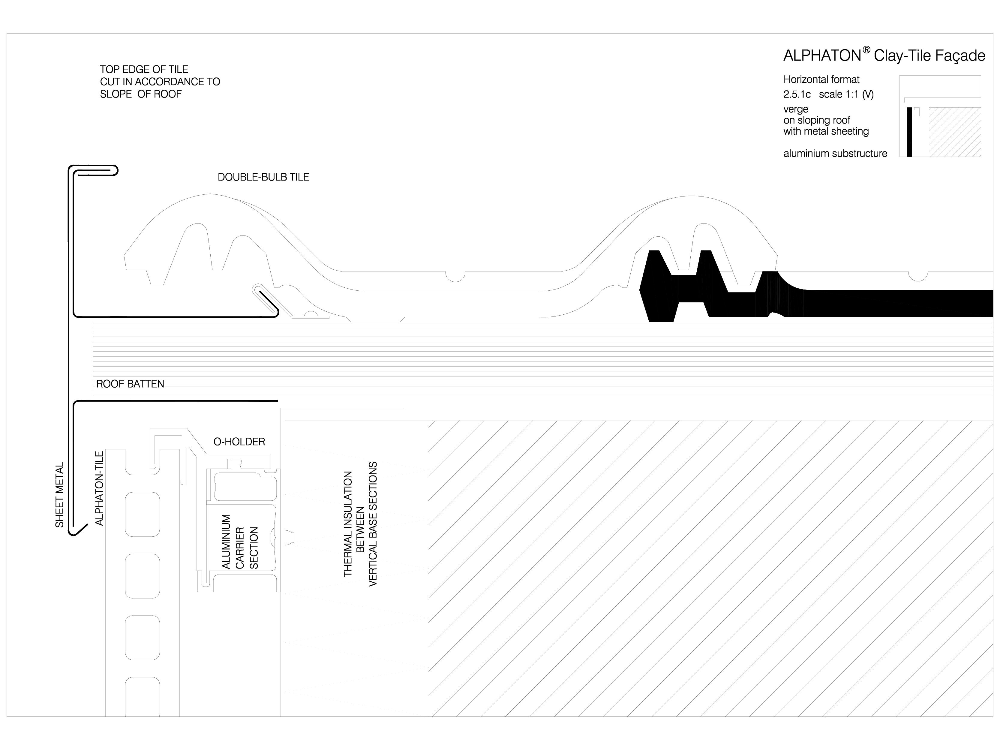 Pagina 1 - CAD-DWG Sisteme de placaje ceramice pentru fatada - 2513 ALPHATON Detaliu de produs...