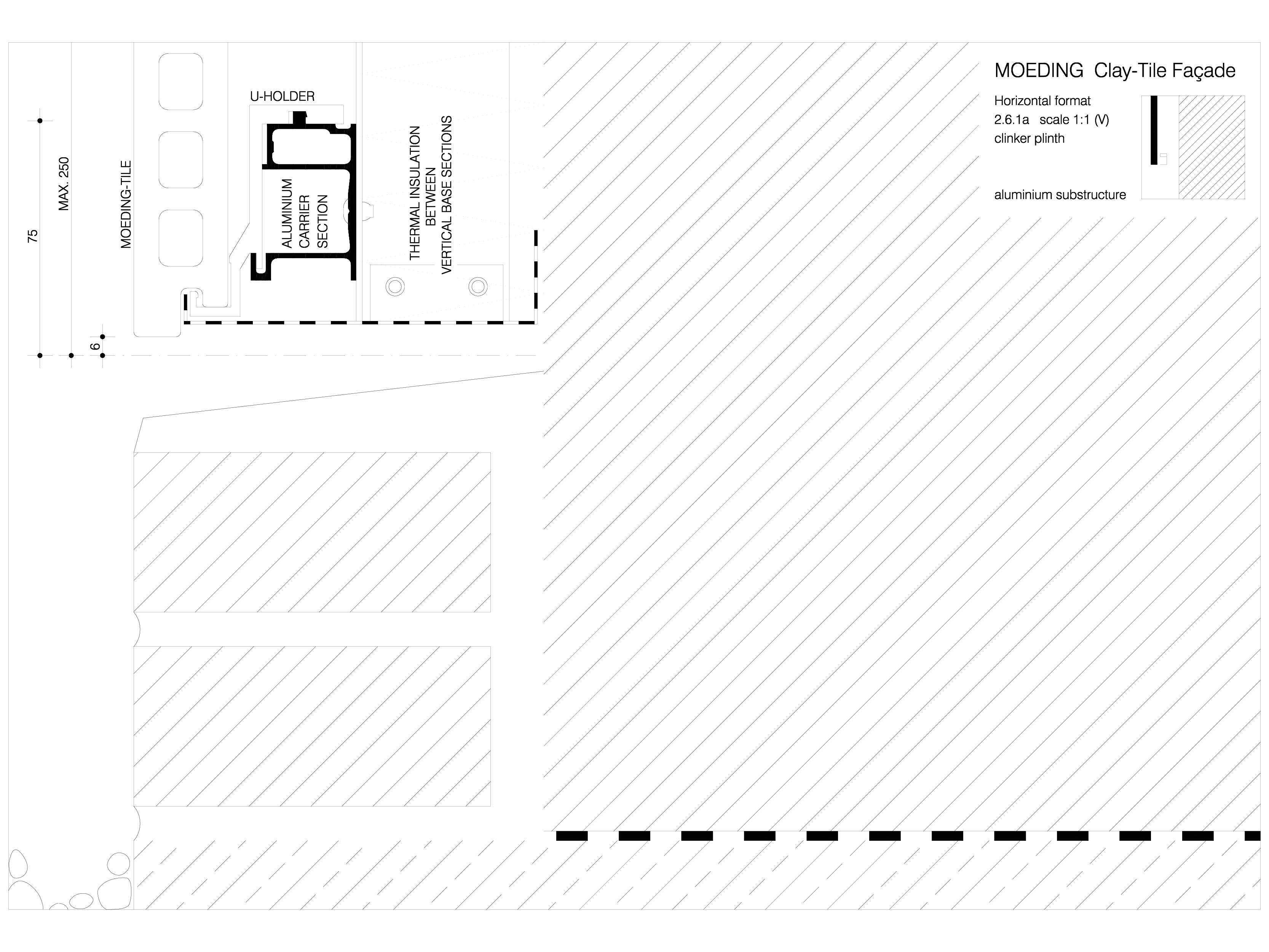 Pagina 1 - CAD-DWG Sisteme de placaje ceramice pentru fatada - 2611 ALPHATON Detaliu de produs...