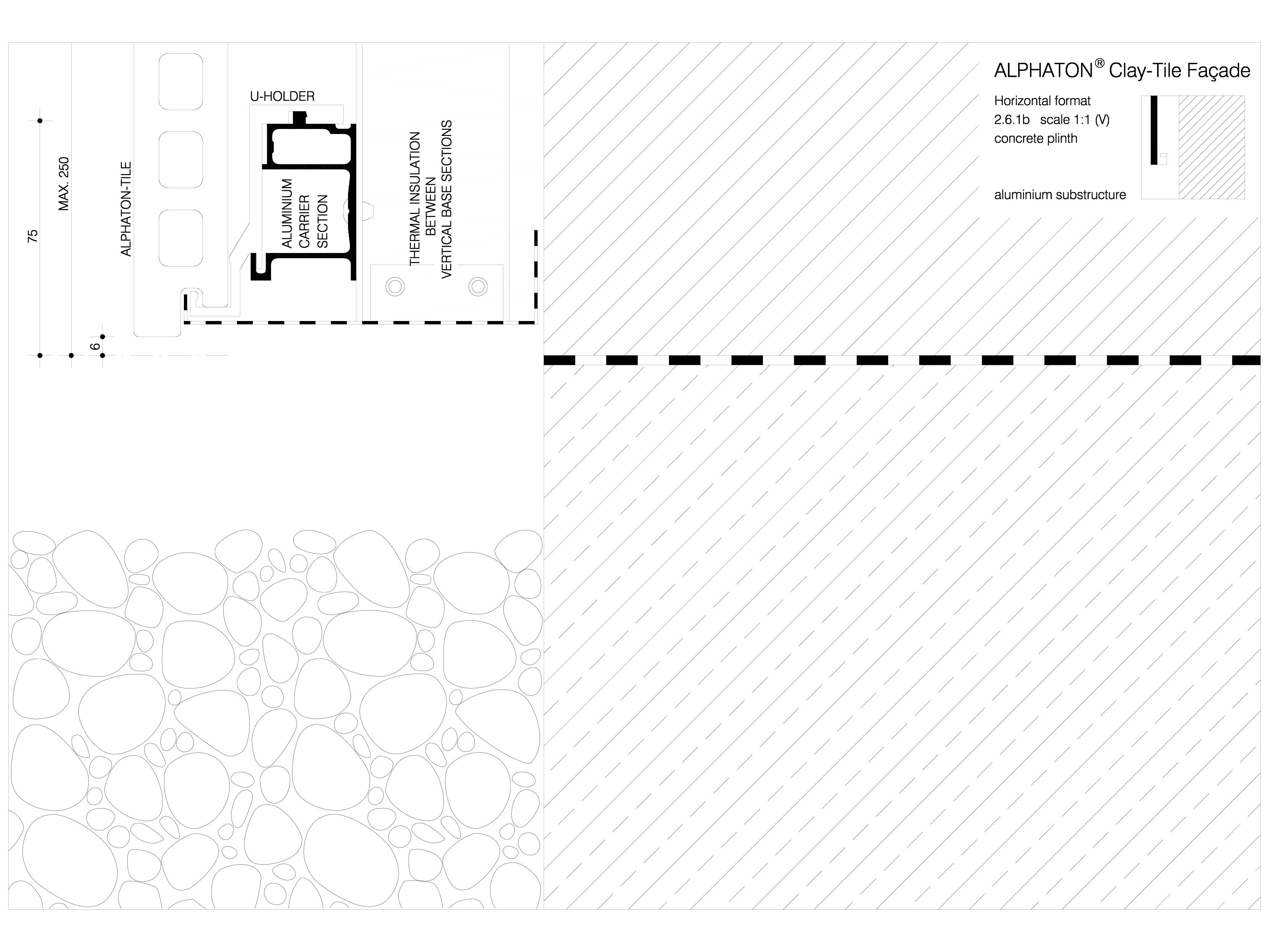 Pagina 1 - CAD-DWG Sisteme de placaje ceramice pentru fatada - 2612 ALPHATON Detaliu de produs...