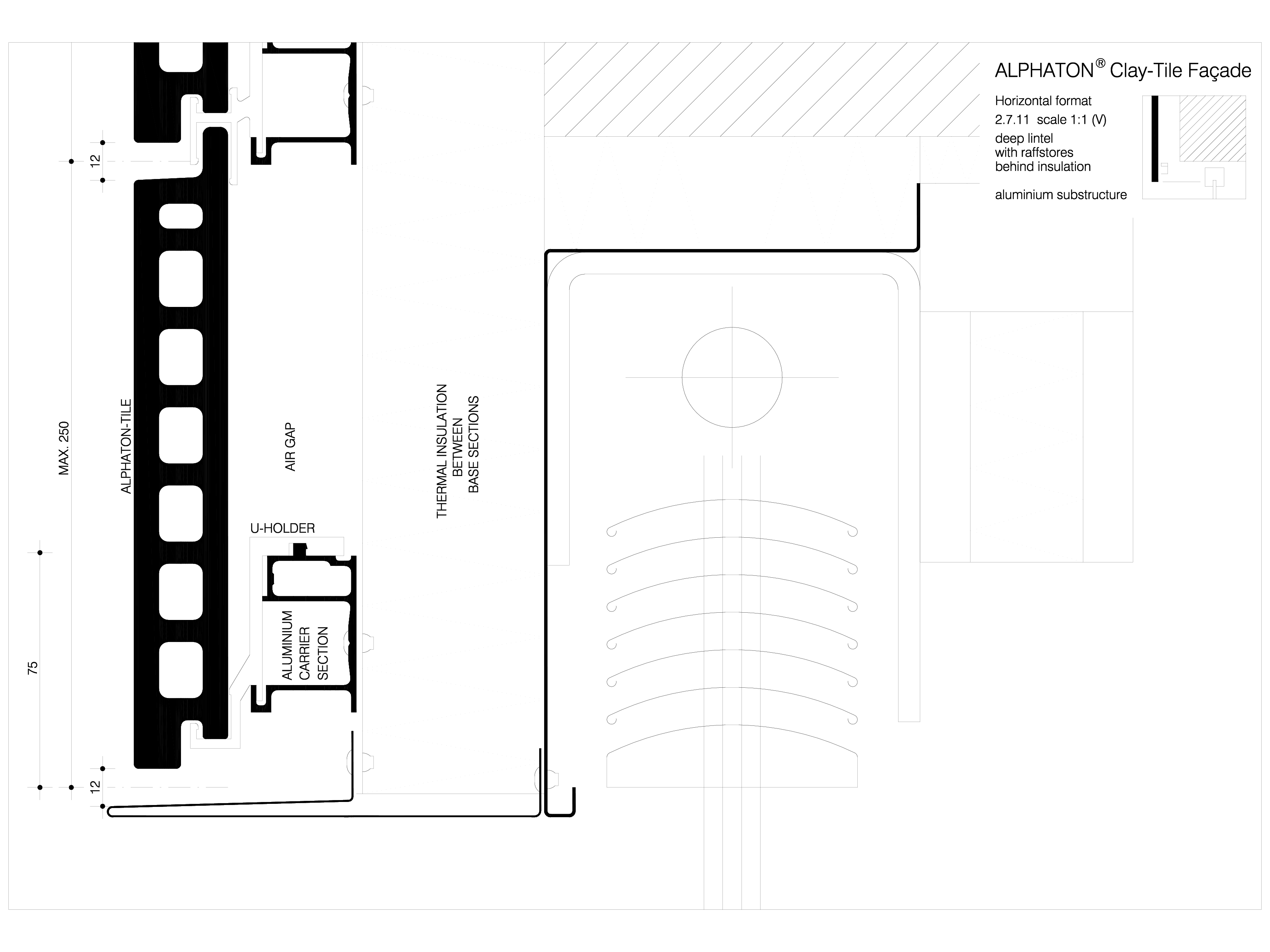 Pagina 1 - CAD-DWG Sisteme de placaje ceramice pentru fatada - 2711 ALPHATON Detaliu de produs...