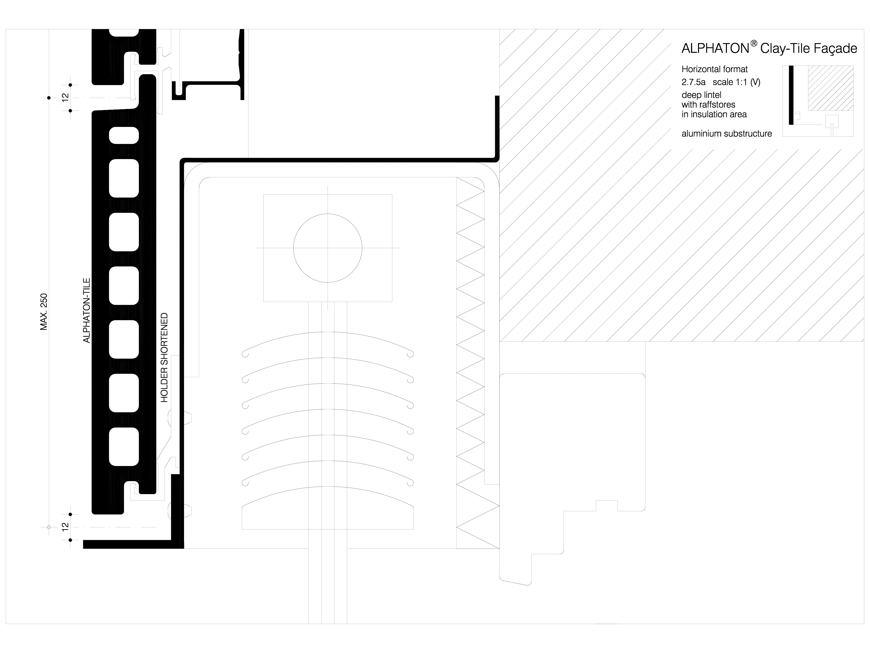Pagina 1 - CAD-DWG Sisteme de placaje ceramice pentru fatada - 2712 ALPHATON Detaliu de produs...