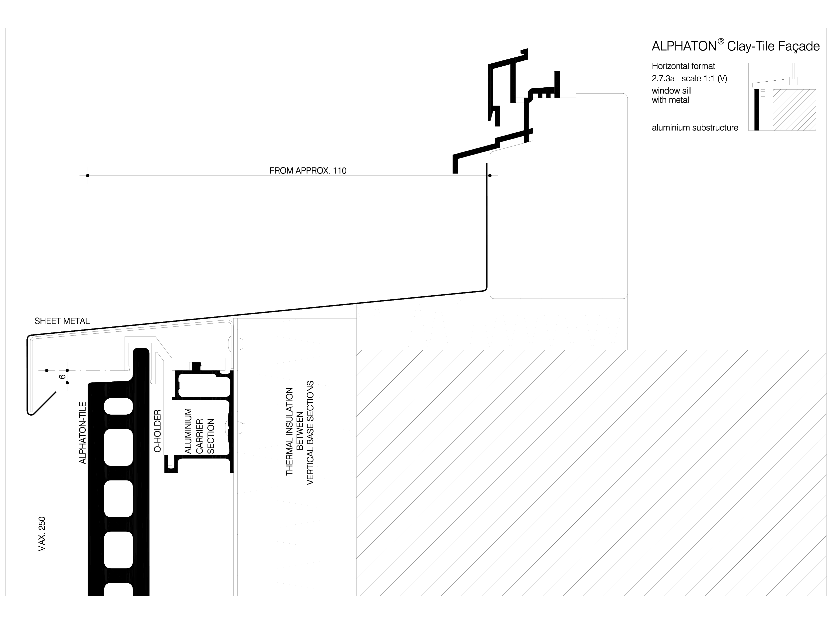 Pagina 1 - CAD-DWG Sisteme de placaje ceramice pentru fatada - 2731 ALPHATON Detaliu de produs...