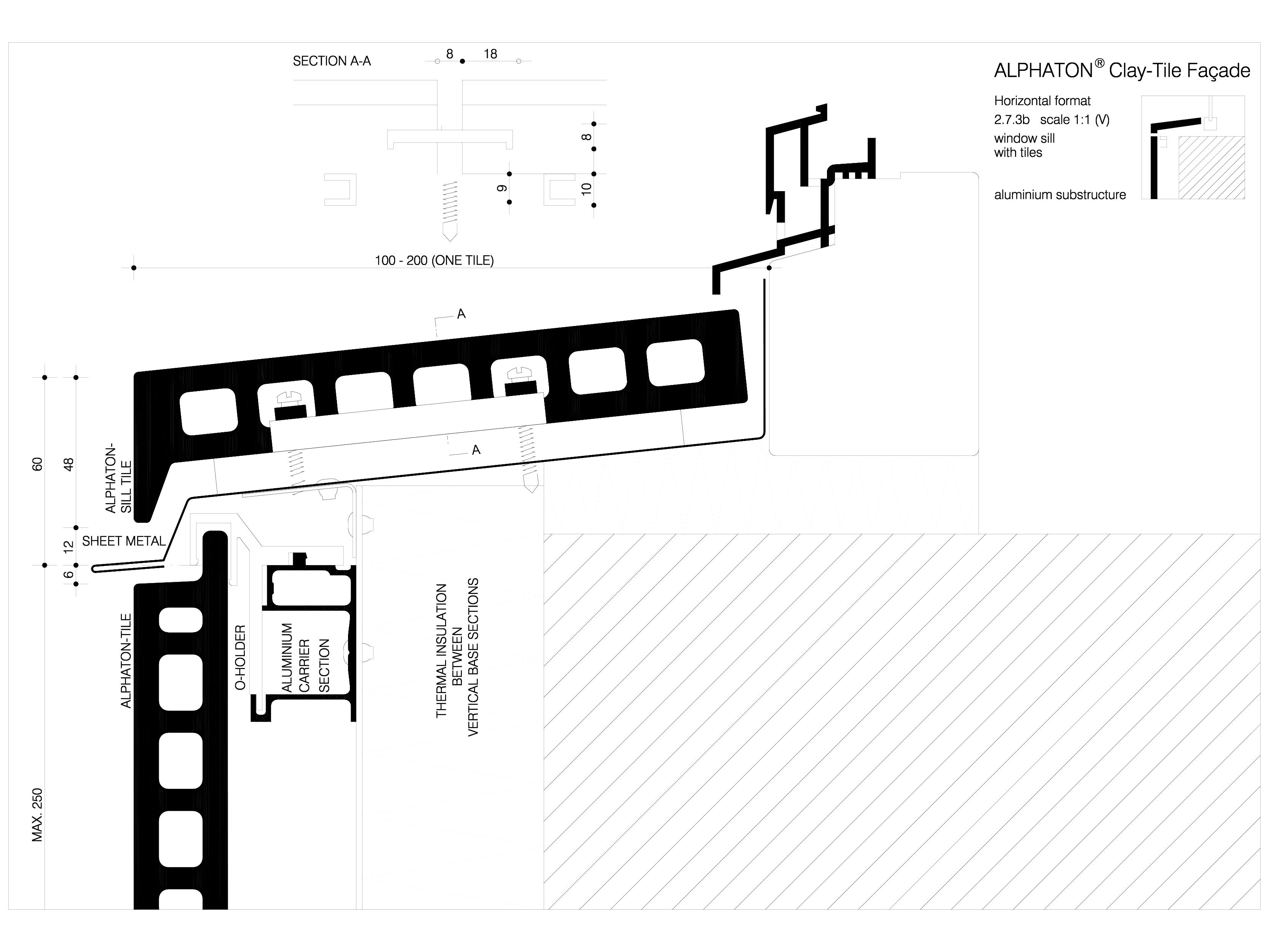 Pagina 1 - CAD-DWG Sisteme de placaje ceramice pentru fatada - 2732 ALPHATON Detaliu de produs...