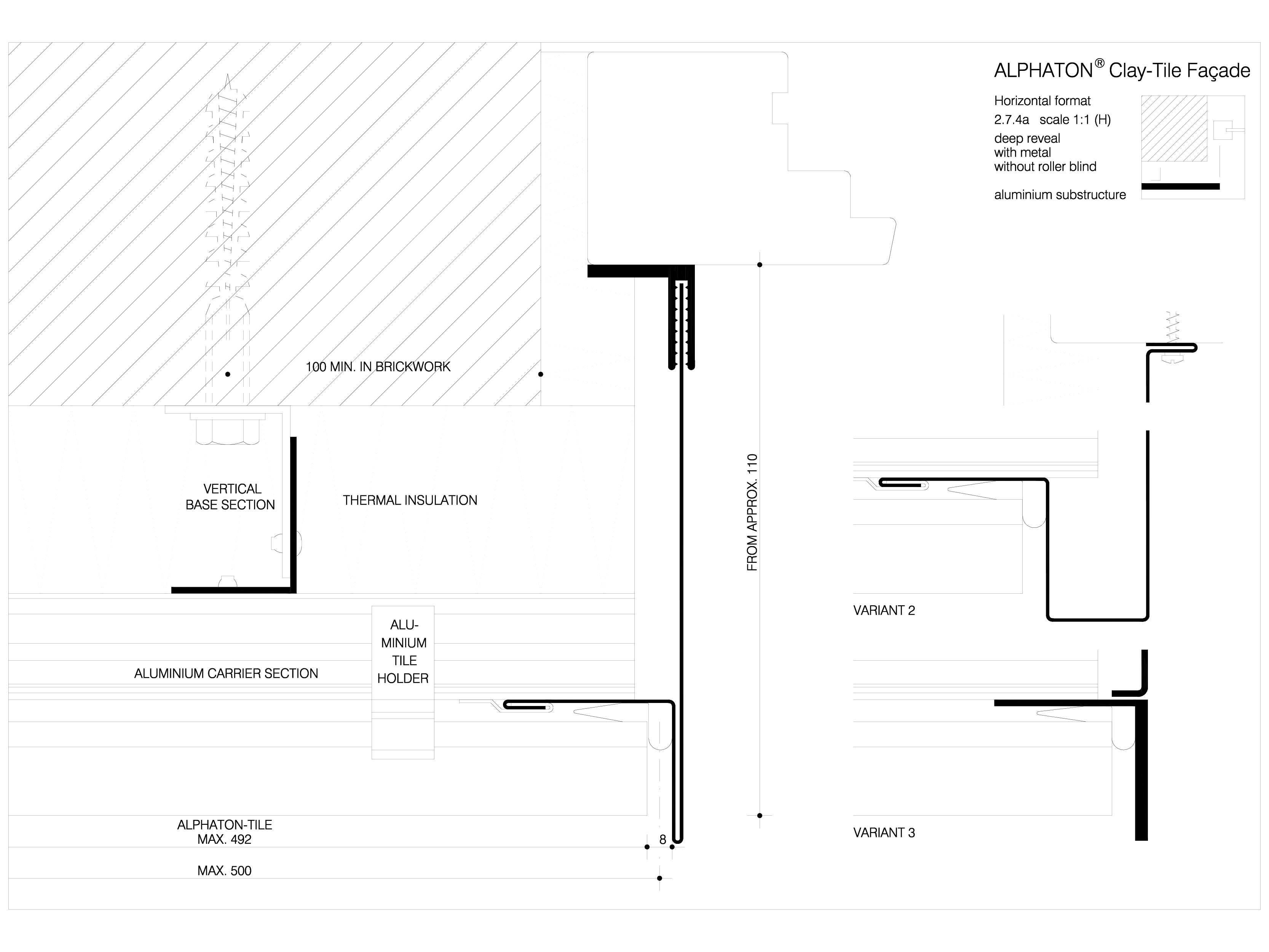 Pagina 1 - CAD-DWG Sisteme de placaje ceramice pentru fatada - 2741 ALPHATON Detaliu de produs...