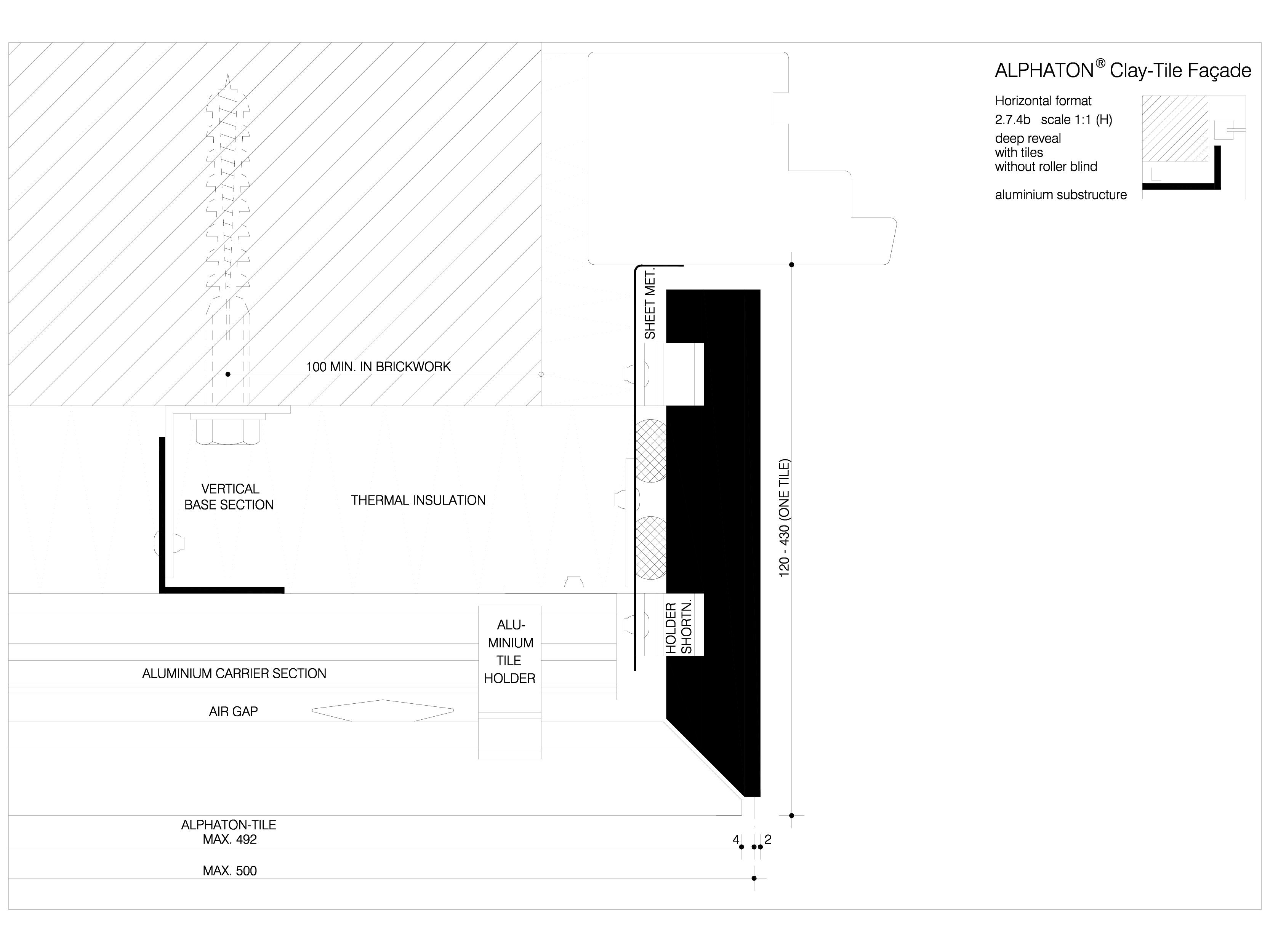 Pagina 1 - CAD-DWG Sisteme de placaje ceramice pentru fatada - 2742 ALPHATON Detaliu de produs...