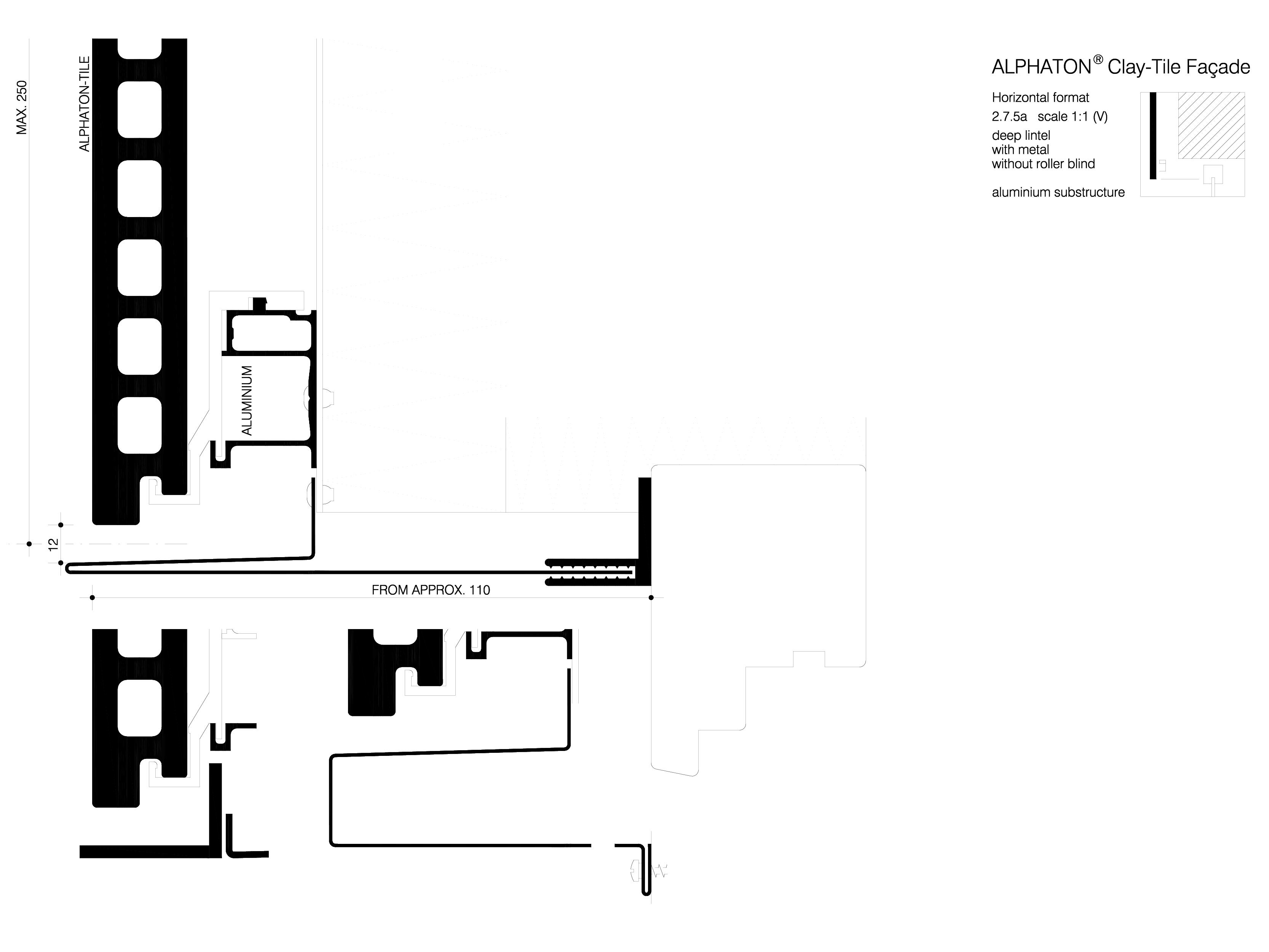 Pagina 1 - CAD-DWG Sisteme de placaje ceramice pentru fatada - 2751 ALPHATON Detaliu de produs...