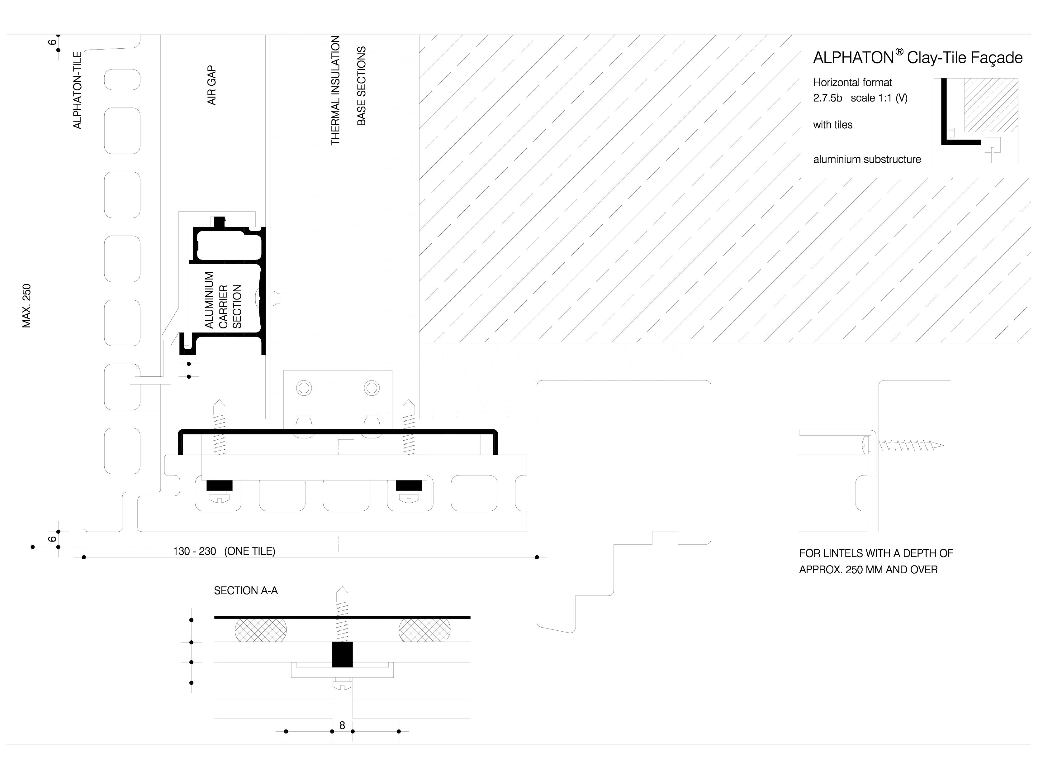 Pagina 1 - CAD-DWG Sisteme de placaje ceramice pentru fatada - 2752 ALPHATON Detaliu de produs...