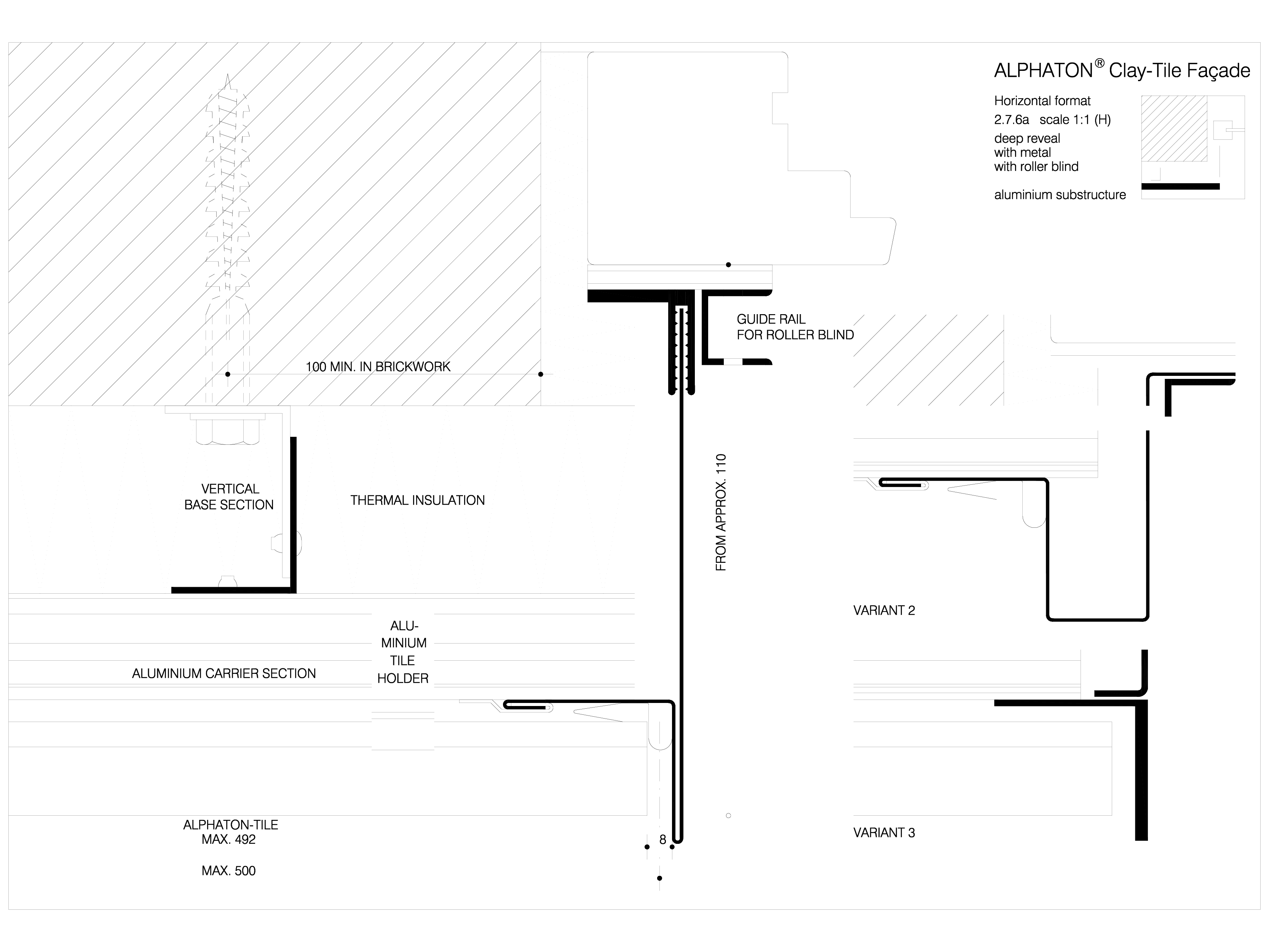Pagina 1 - CAD-DWG Sisteme de placaje ceramice pentru fatada - 2761 ALPHATON Detaliu de produs...