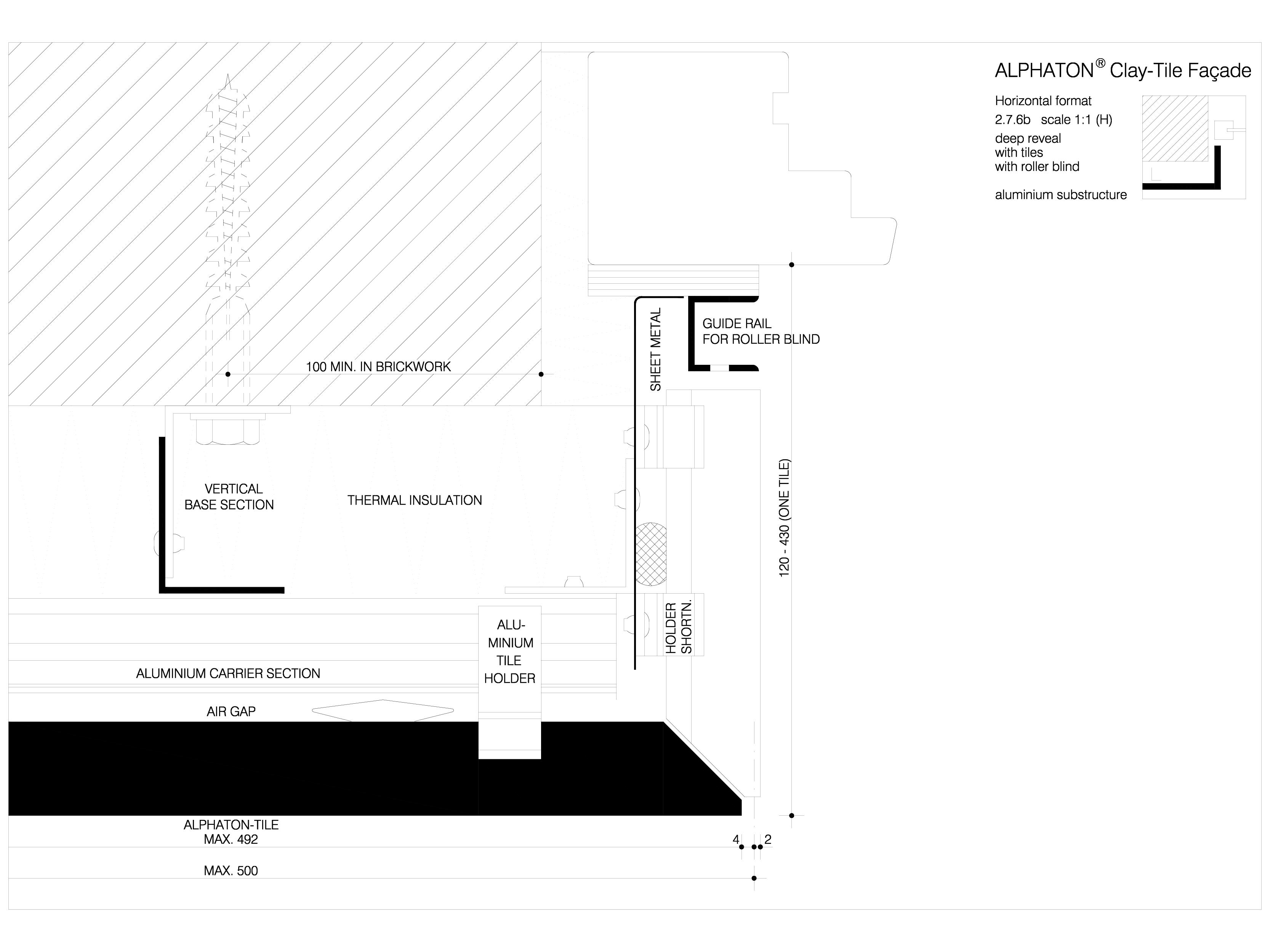 Pagina 1 - CAD-DWG Sisteme de placaje ceramice pentru fatada - 2762 ALPHATON Detaliu de produs...