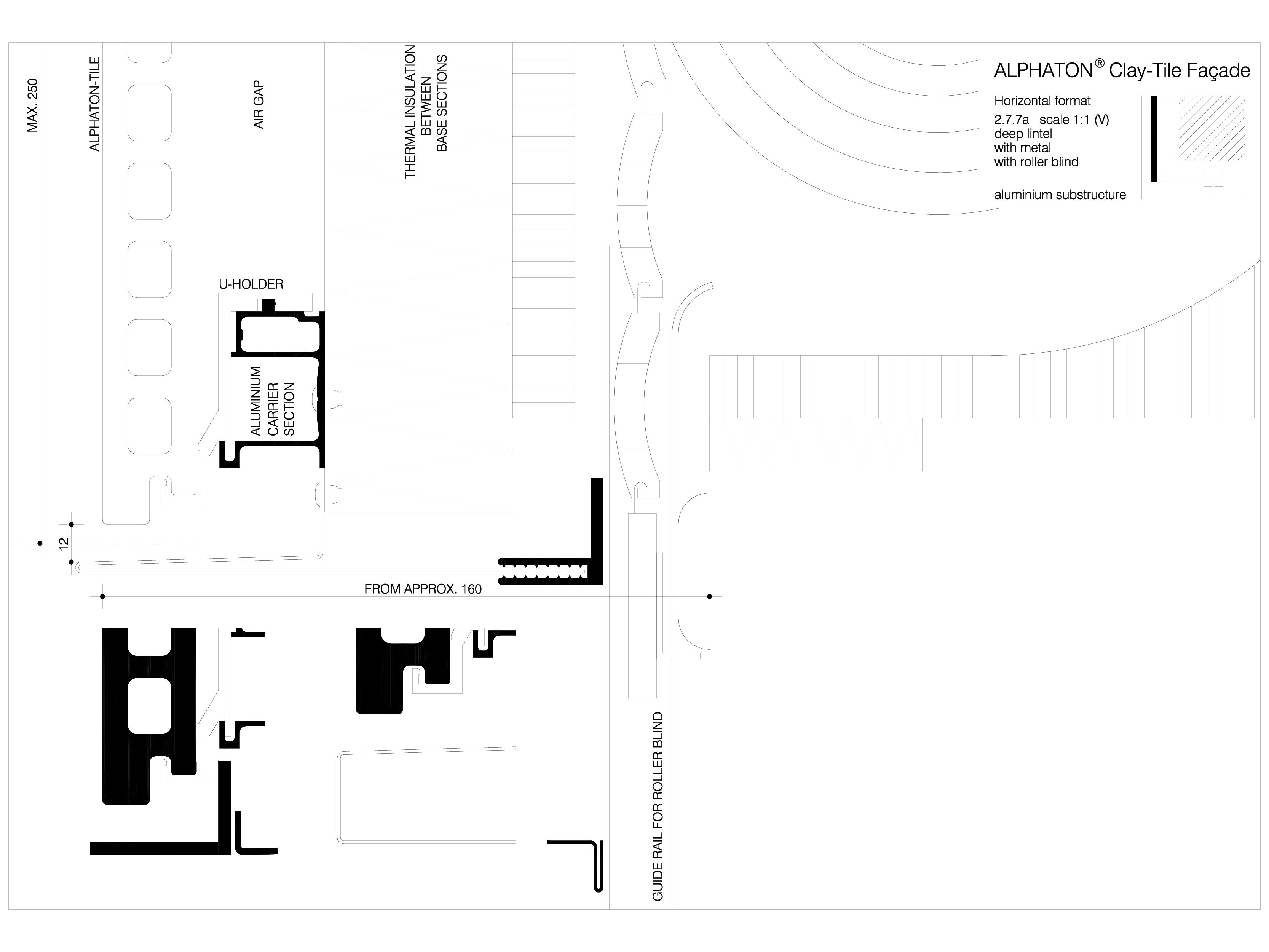 Pagina 1 - CAD-DWG Sisteme de placaje ceramice pentru fatada - 2771 ALPHATON Detaliu de produs...