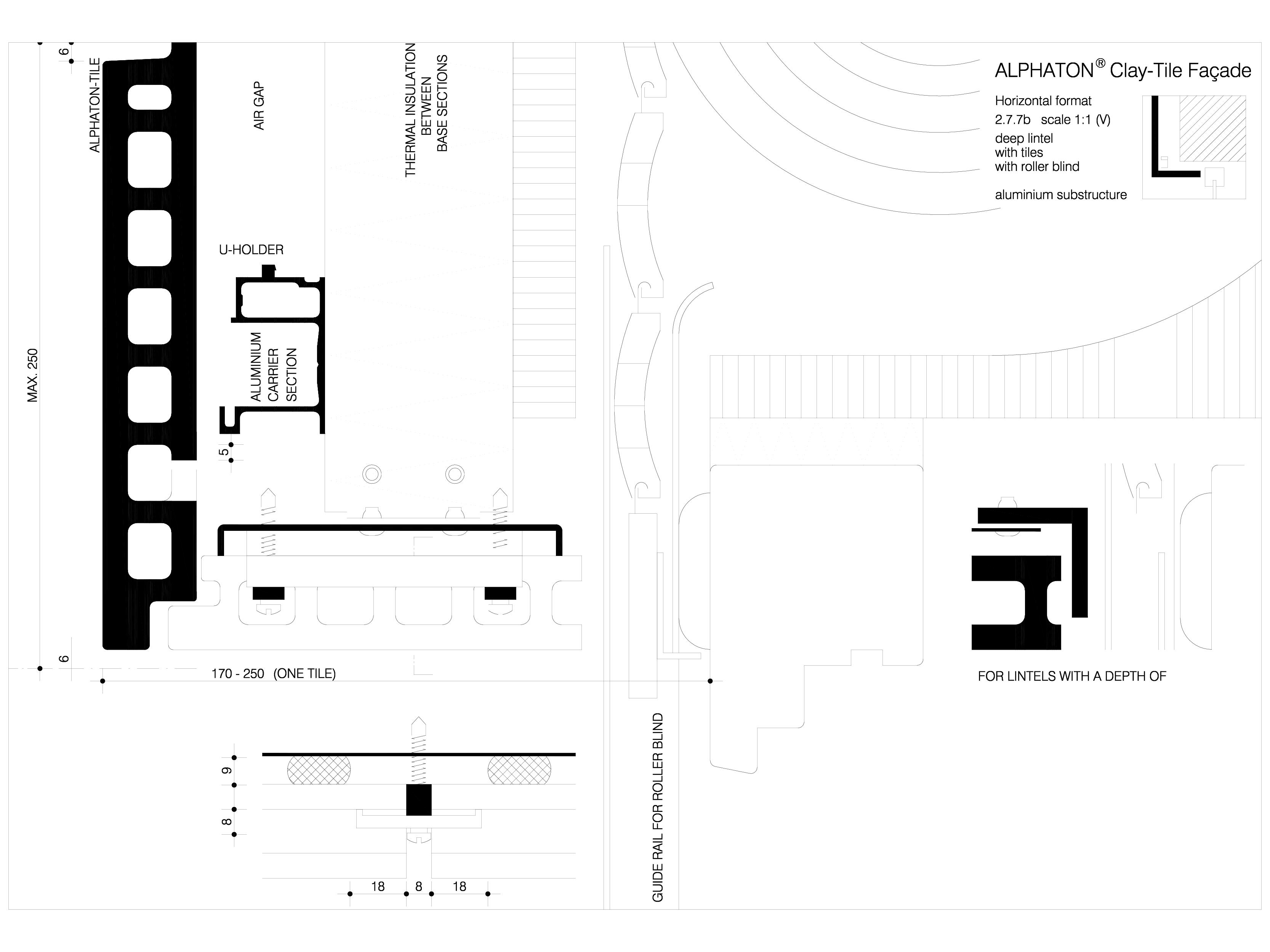 Pagina 1 - CAD-DWG Sisteme de placaje ceramice pentru fatada - 2772 ALPHATON Detaliu de produs...