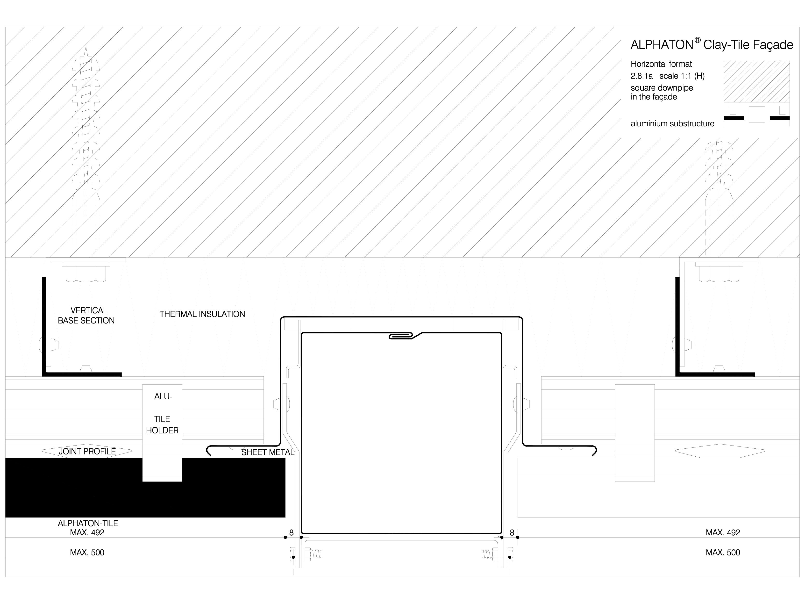 Pagina 1 - CAD-DWG Sisteme de placaje ceramice pentru fatada - 2811 ALPHATON Detaliu de produs...