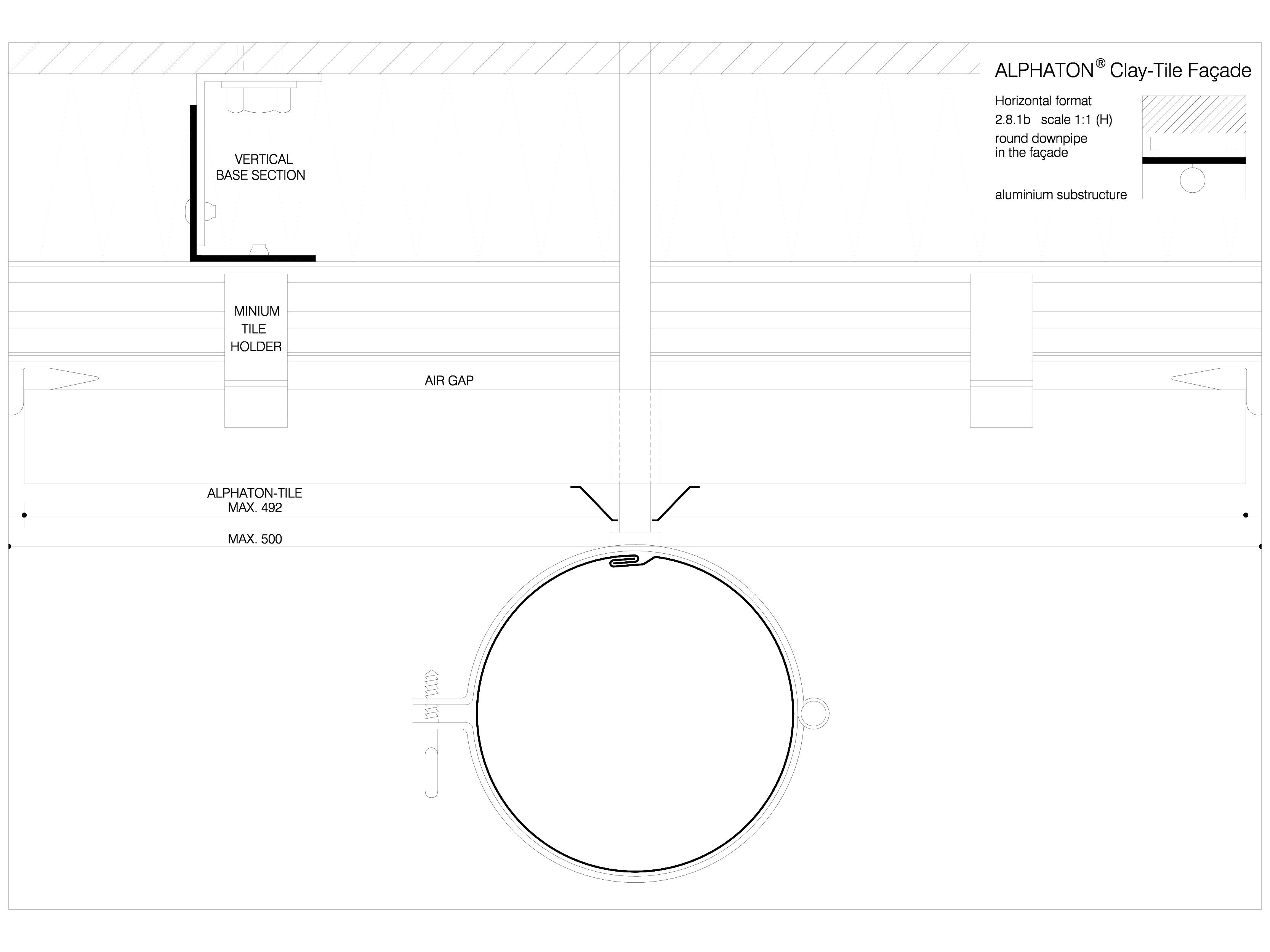 Pagina 1 - CAD-DWG Sisteme de placaje ceramice pentru fatada - 2812 ALPHATON Detaliu de produs...