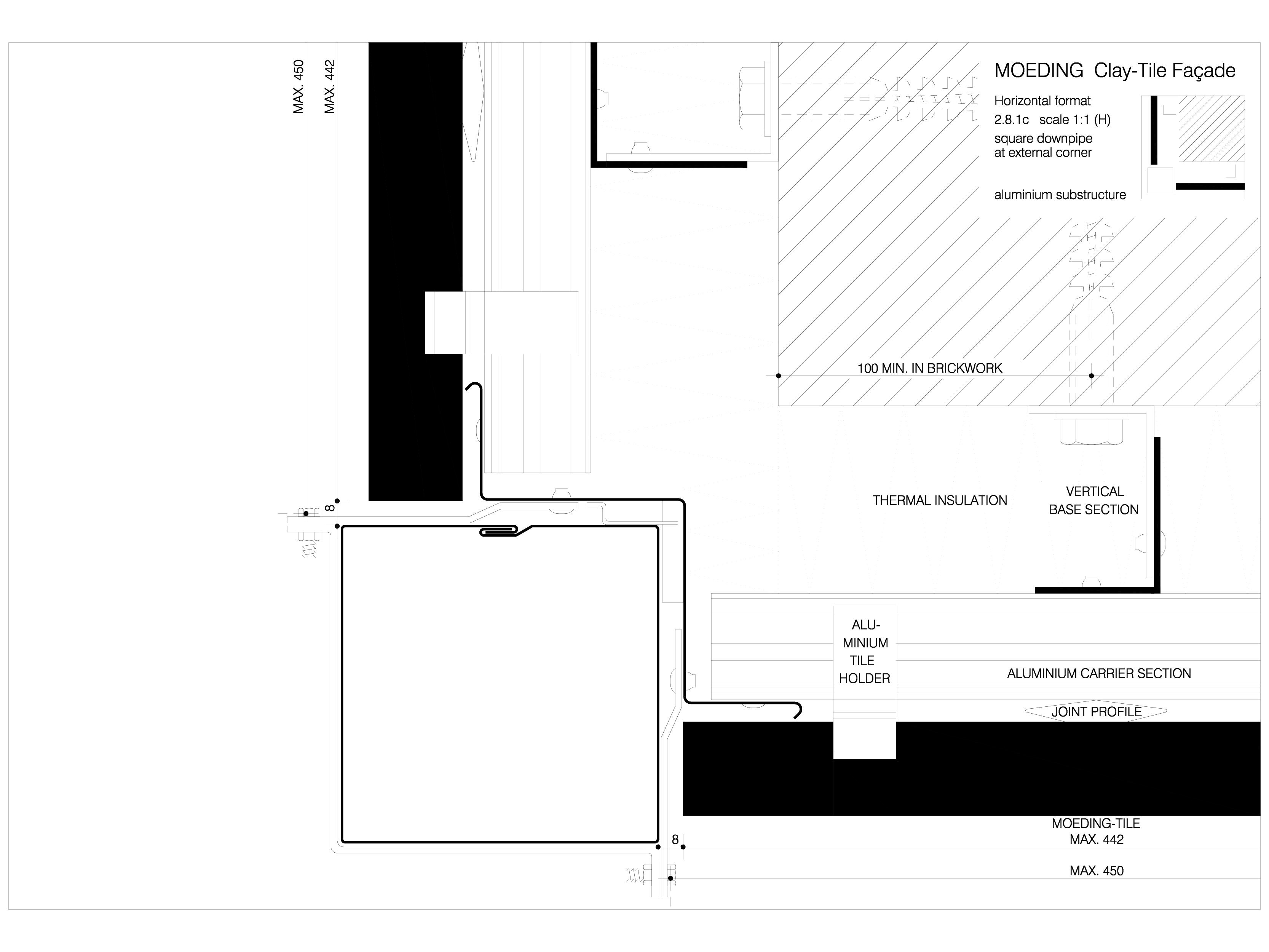 Pagina 1 - CAD-DWG Sisteme de placaje ceramice pentru fatada - 2813 ALPHATON Detaliu de produs...