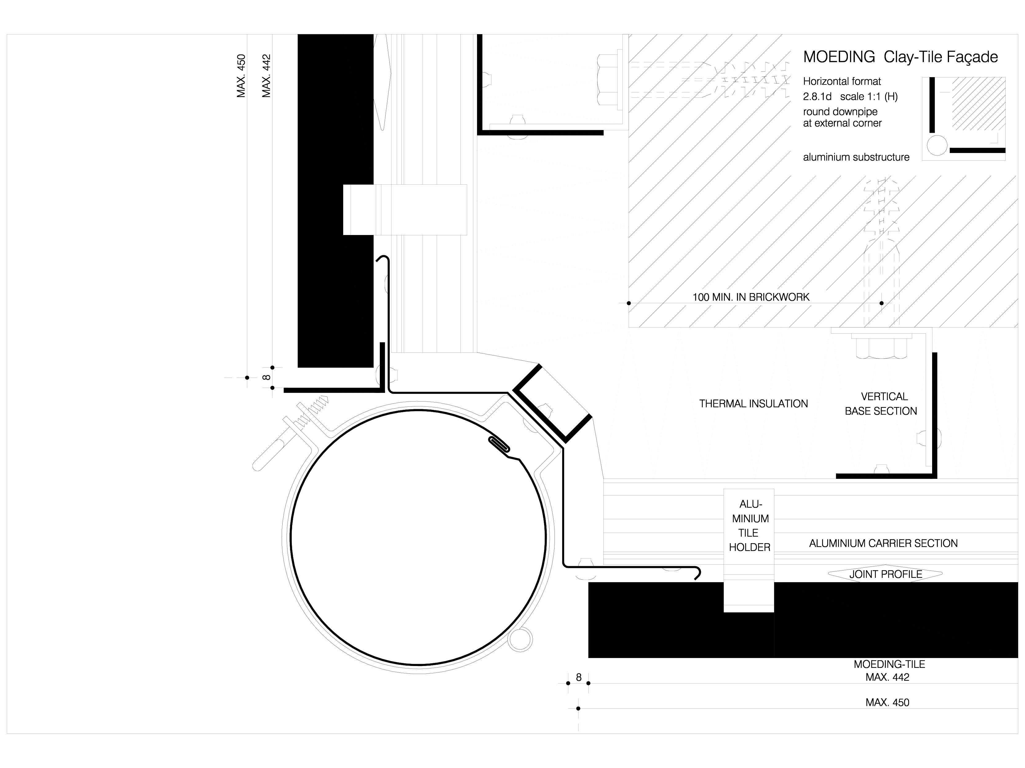 Pagina 1 - CAD-DWG Sisteme de placaje ceramice pentru fatada - 2814 ALPHATON Detaliu de produs...