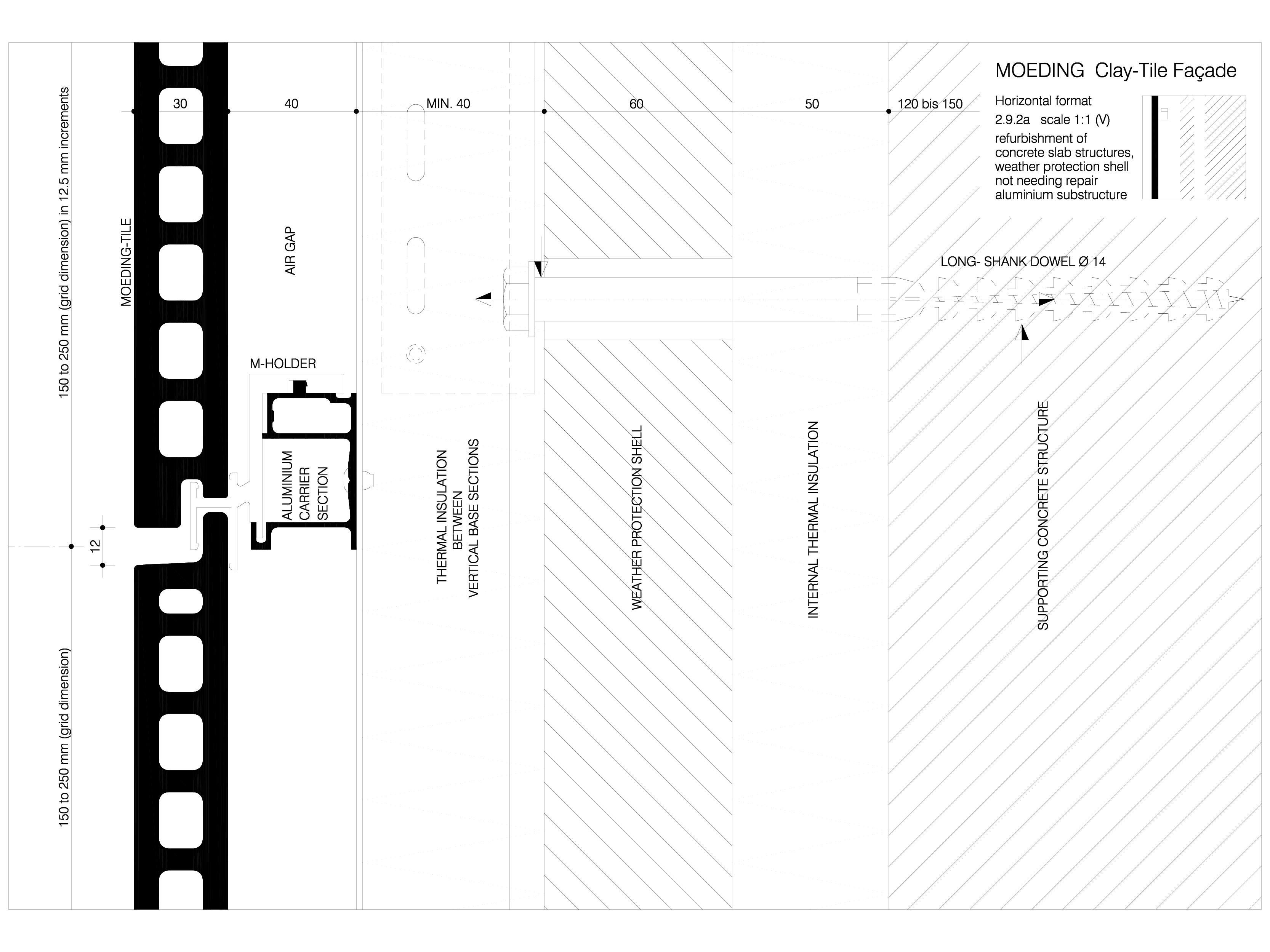 Pagina 1 - CAD-DWG Sisteme de placaje ceramice pentru fatada - 2921 ALPHATON Detaliu de produs...
