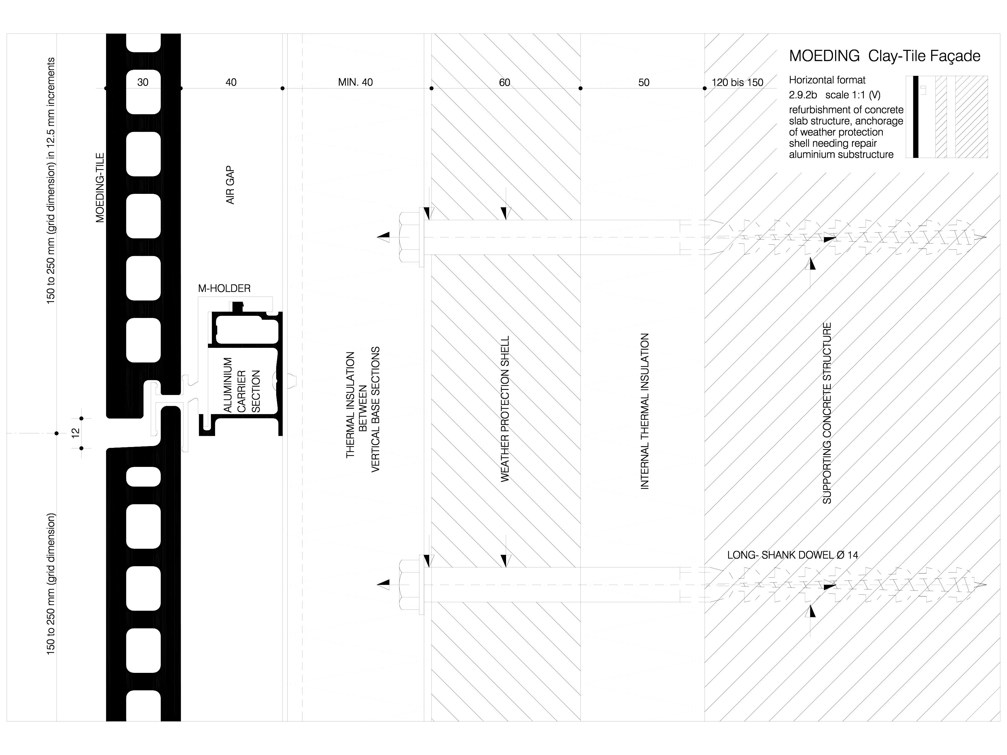 Pagina 1 - CAD-DWG Sisteme de placaje ceramice pentru fatada - 2922 ALPHATON Detaliu de produs...