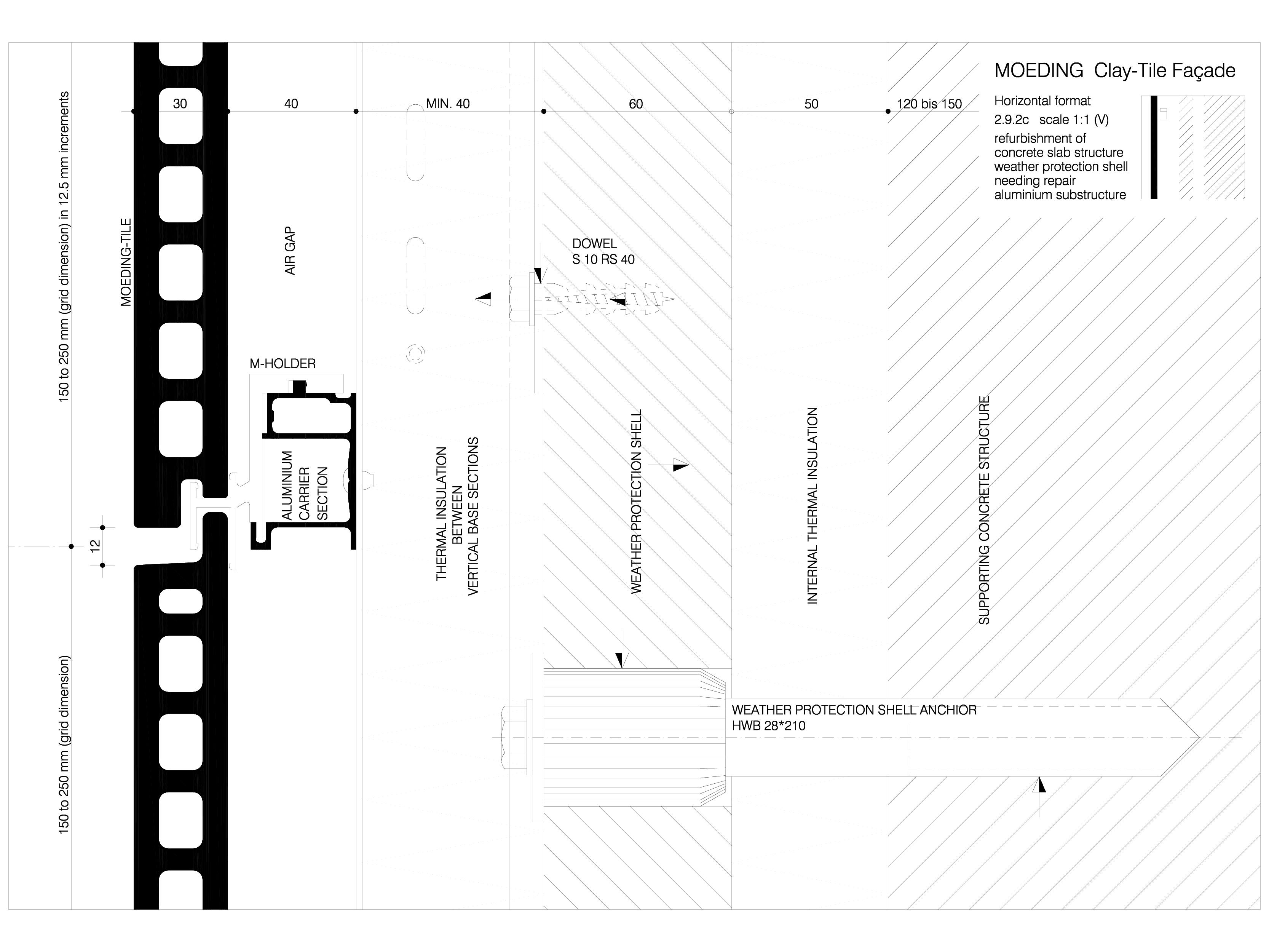 Pagina 1 - CAD-DWG Sisteme de placaje ceramice pentru fatada - 2923 ALPHATON Detaliu de produs...