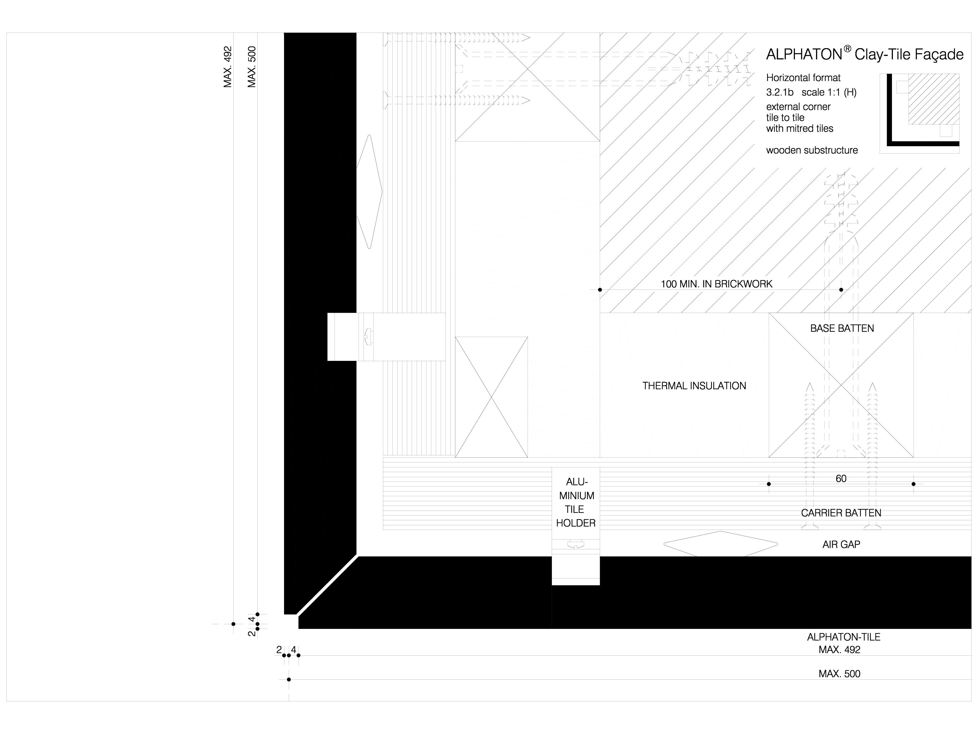 Pagina 1 - CAD-DWG Sisteme de placaje ceramice pentru fatada - 3212 ALPHATON Detaliu de produs...