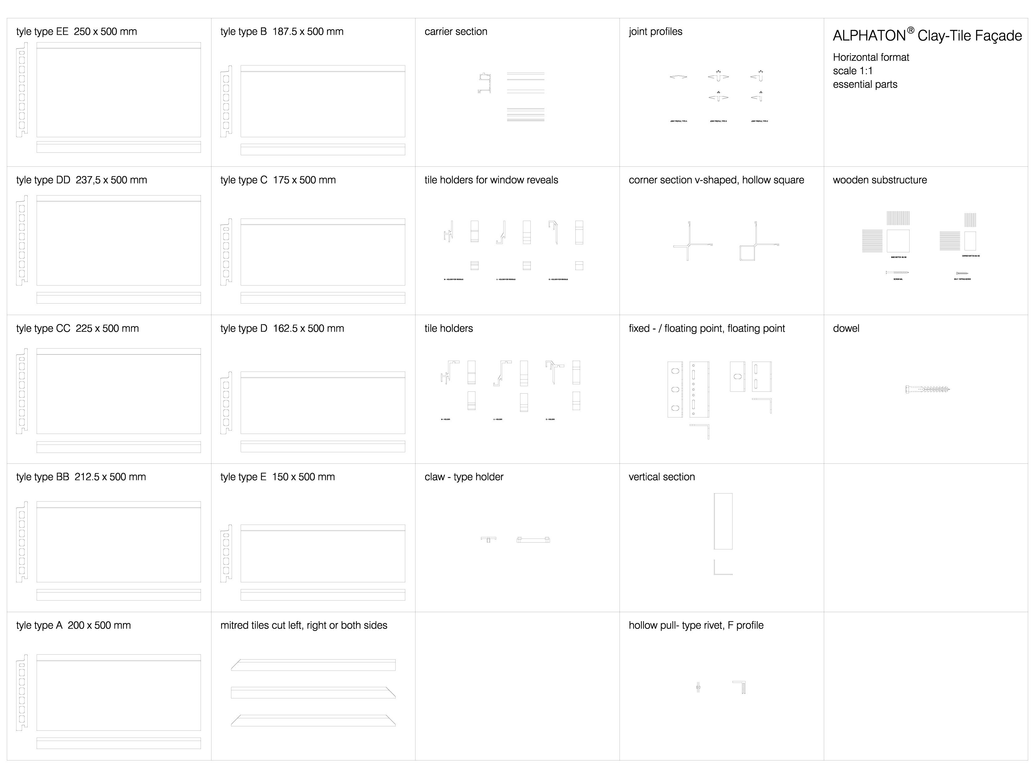 Pagina 1 - CAD-DWG Sisteme de placaje ceramice pentru fatada - 4103 ALPHATON Detaliu de produs...