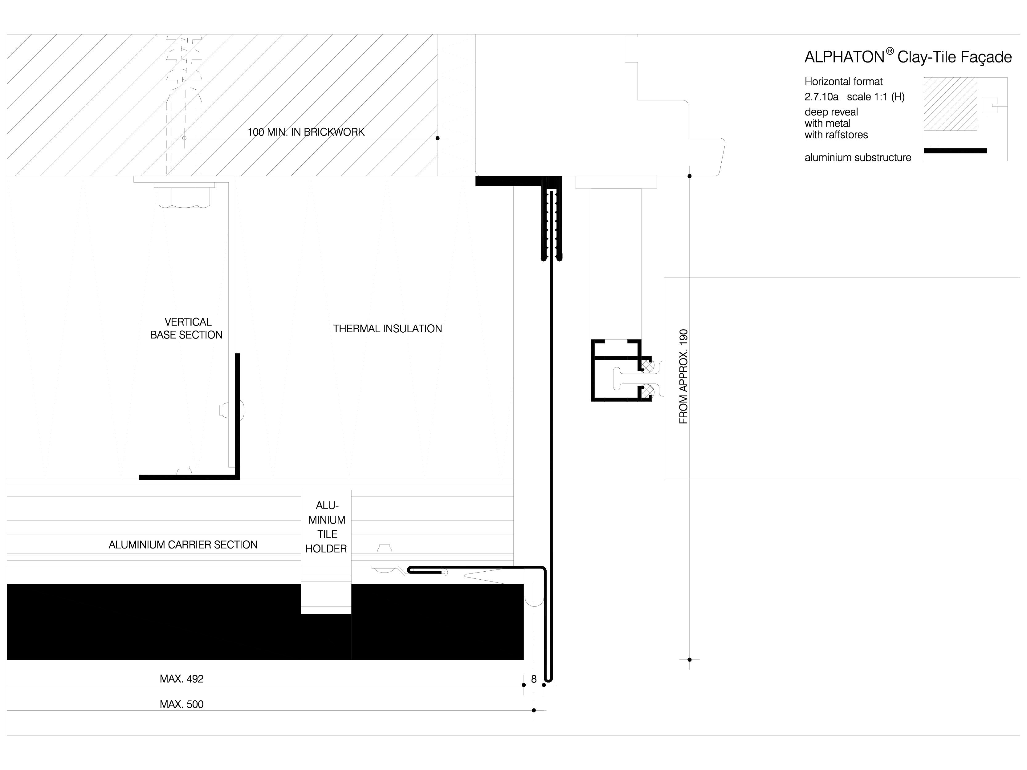 Pagina 1 - CAD-DWG Sisteme de placaje ceramice pentru fatada - 27101 ALPHATON Detaliu de produs...