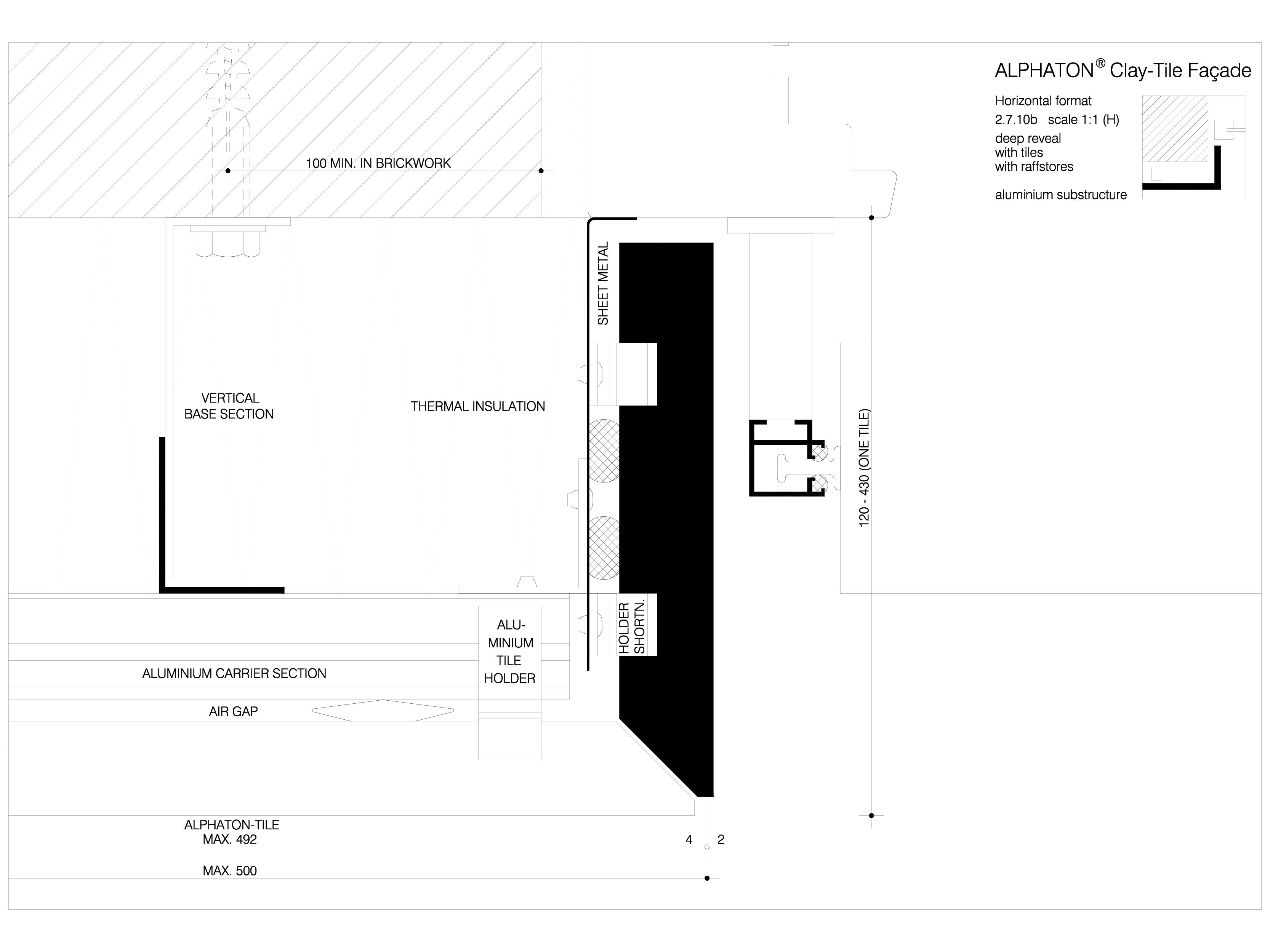 Pagina 1 - CAD-DWG Sisteme de placaje ceramice pentru fatada - 27102 ALPHATON Detaliu de produs...