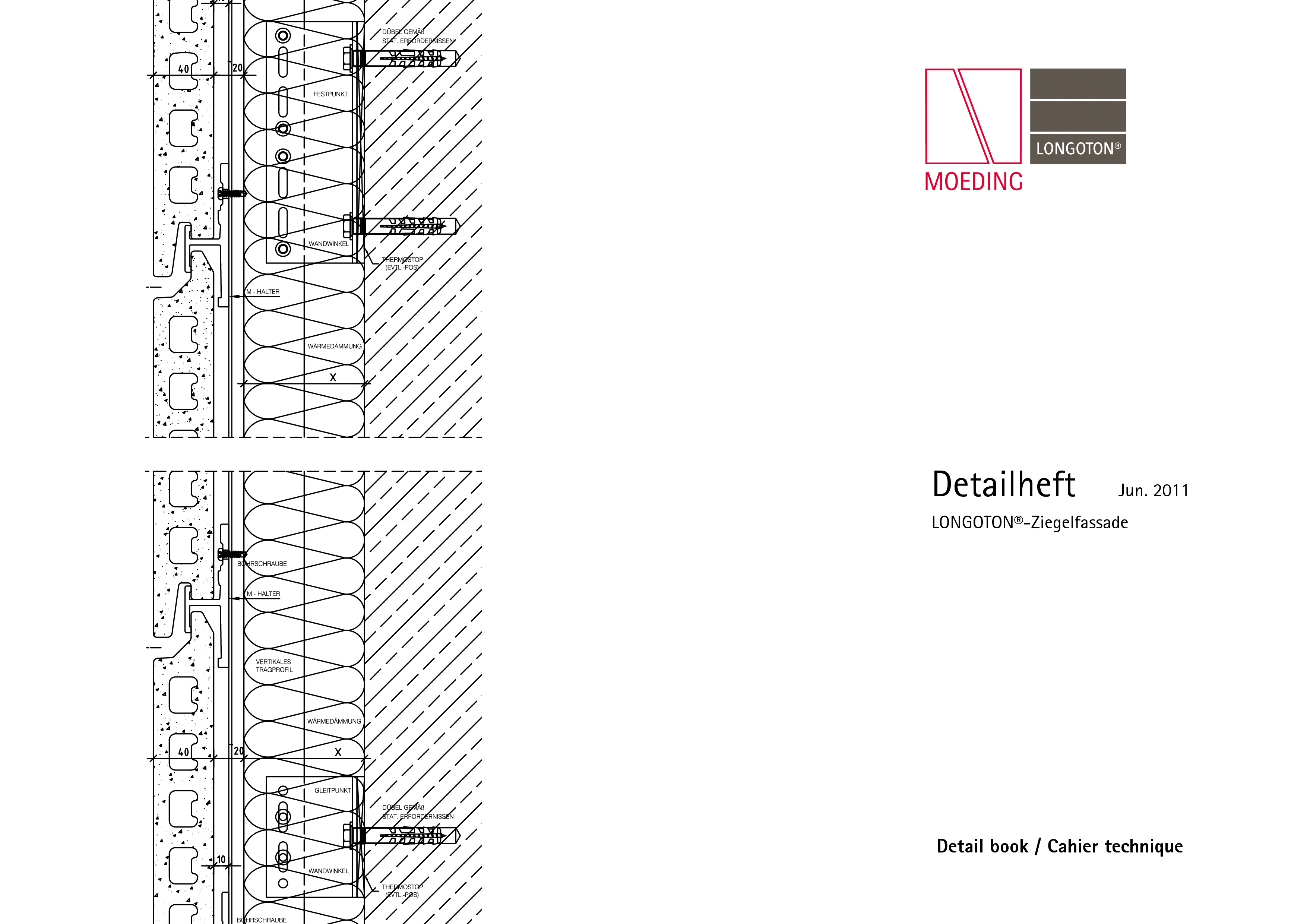 Pagina 1 - CAD-PDF Sisteme de placaje ceramice pentru fatada  ALPHATON Detaliu de montaj LONGOTON