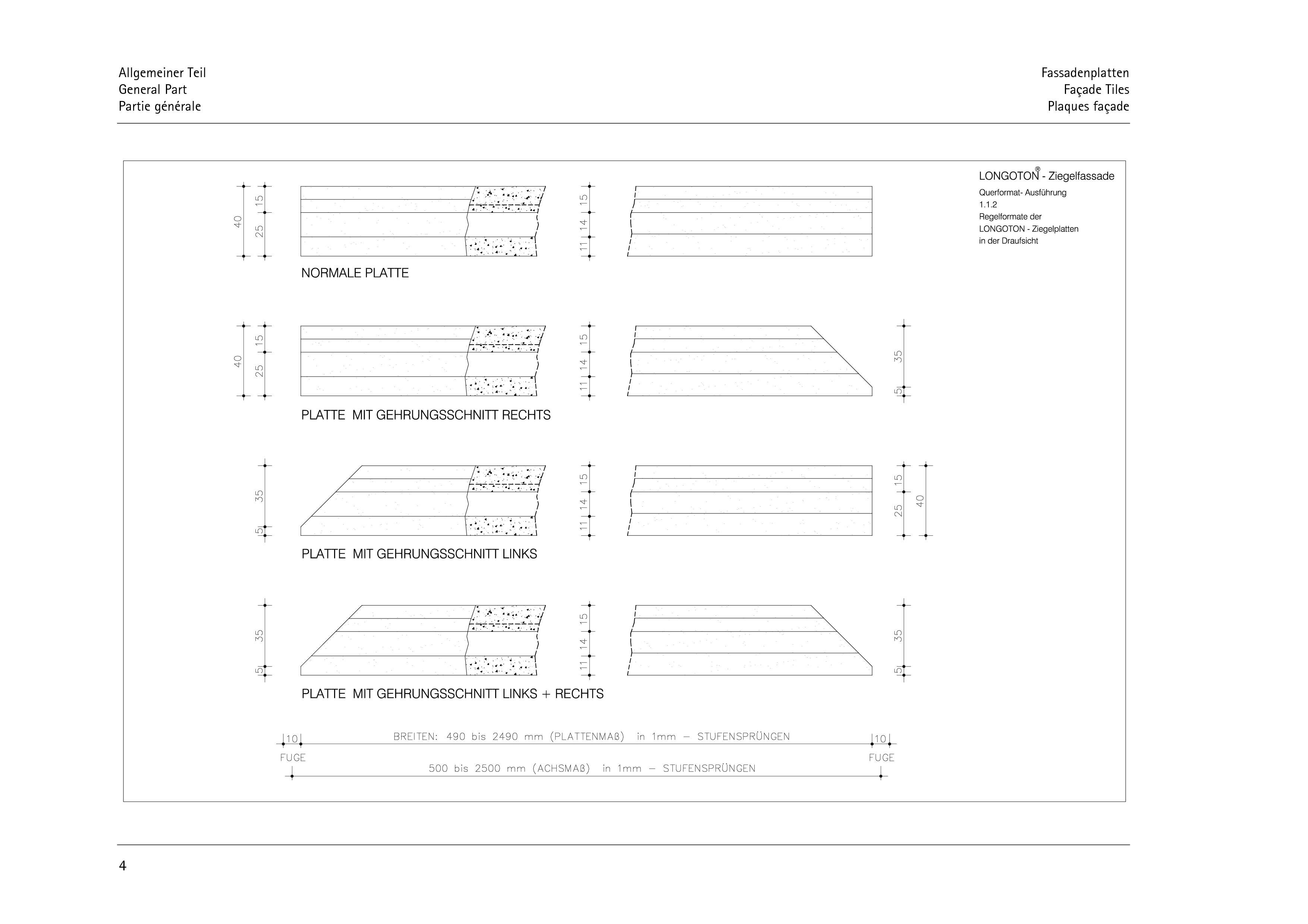 Pagina 4 - CAD-PDF Sisteme de placaje ceramice pentru fatada  ALPHATON Detaliu de montaj LONGOTON