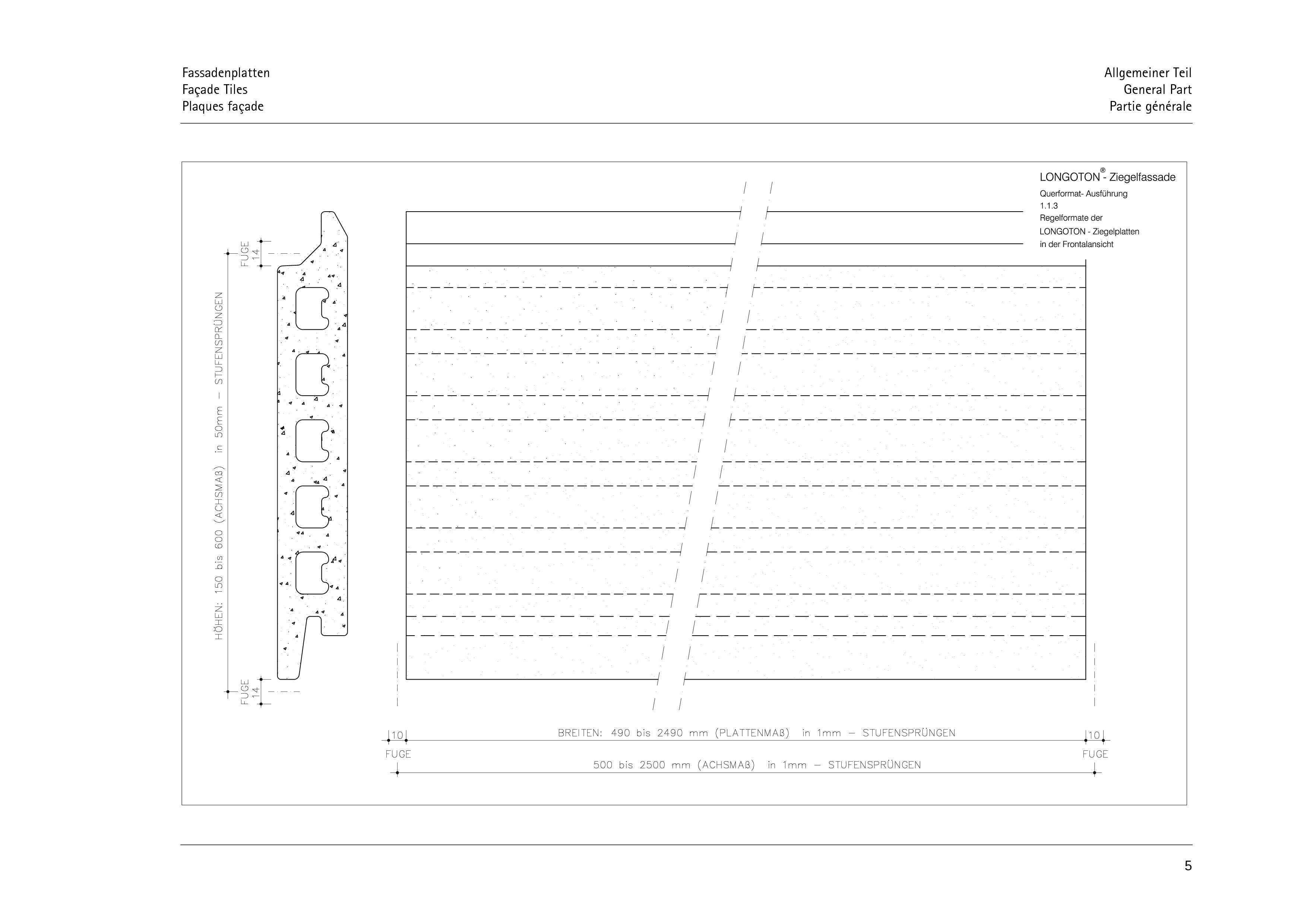 Pagina 5 - CAD-PDF Sisteme de placaje ceramice pentru fatada  ALPHATON Detaliu de montaj LONGOTON