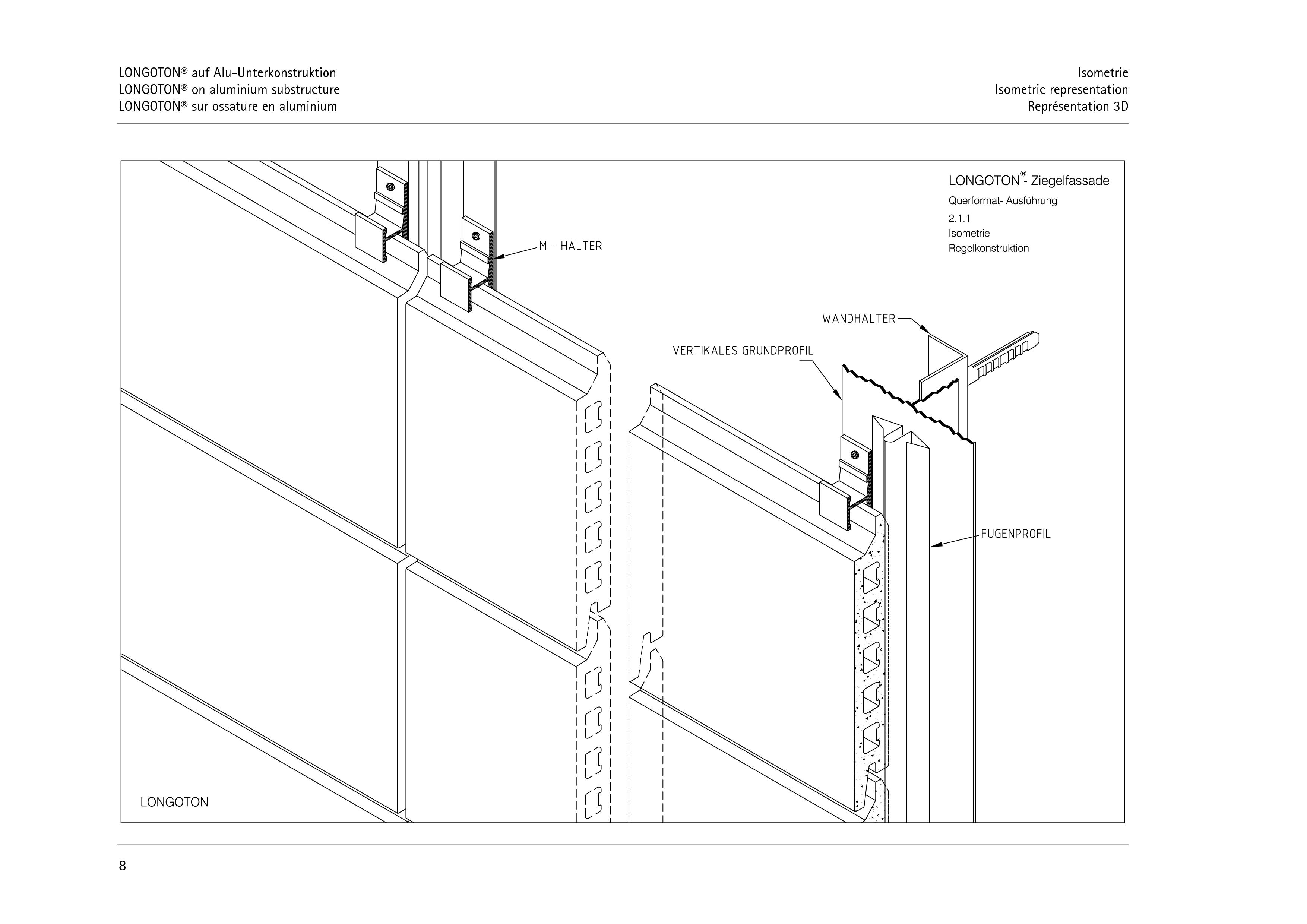 Pagina 8 - CAD-PDF Sisteme de placaje ceramice pentru fatada  ALPHATON Detaliu de montaj LONGOTON