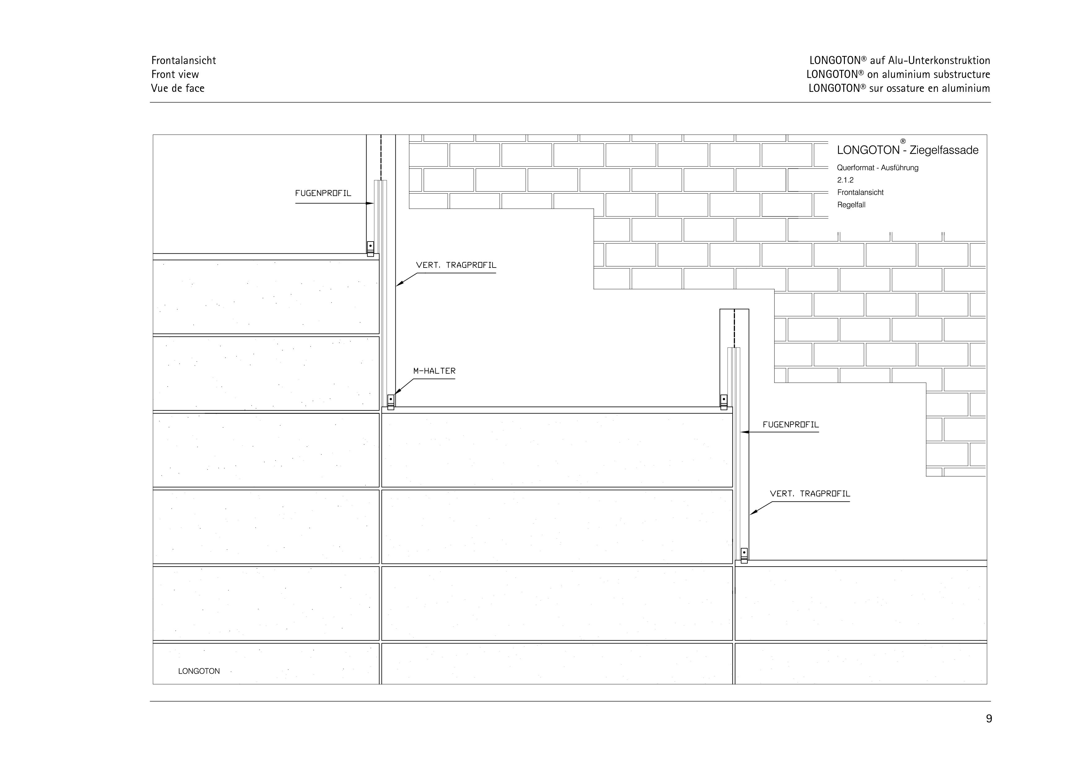 Pagina 9 - CAD-PDF Sisteme de placaje ceramice pentru fatada  ALPHATON Detaliu de montaj LONGOTON