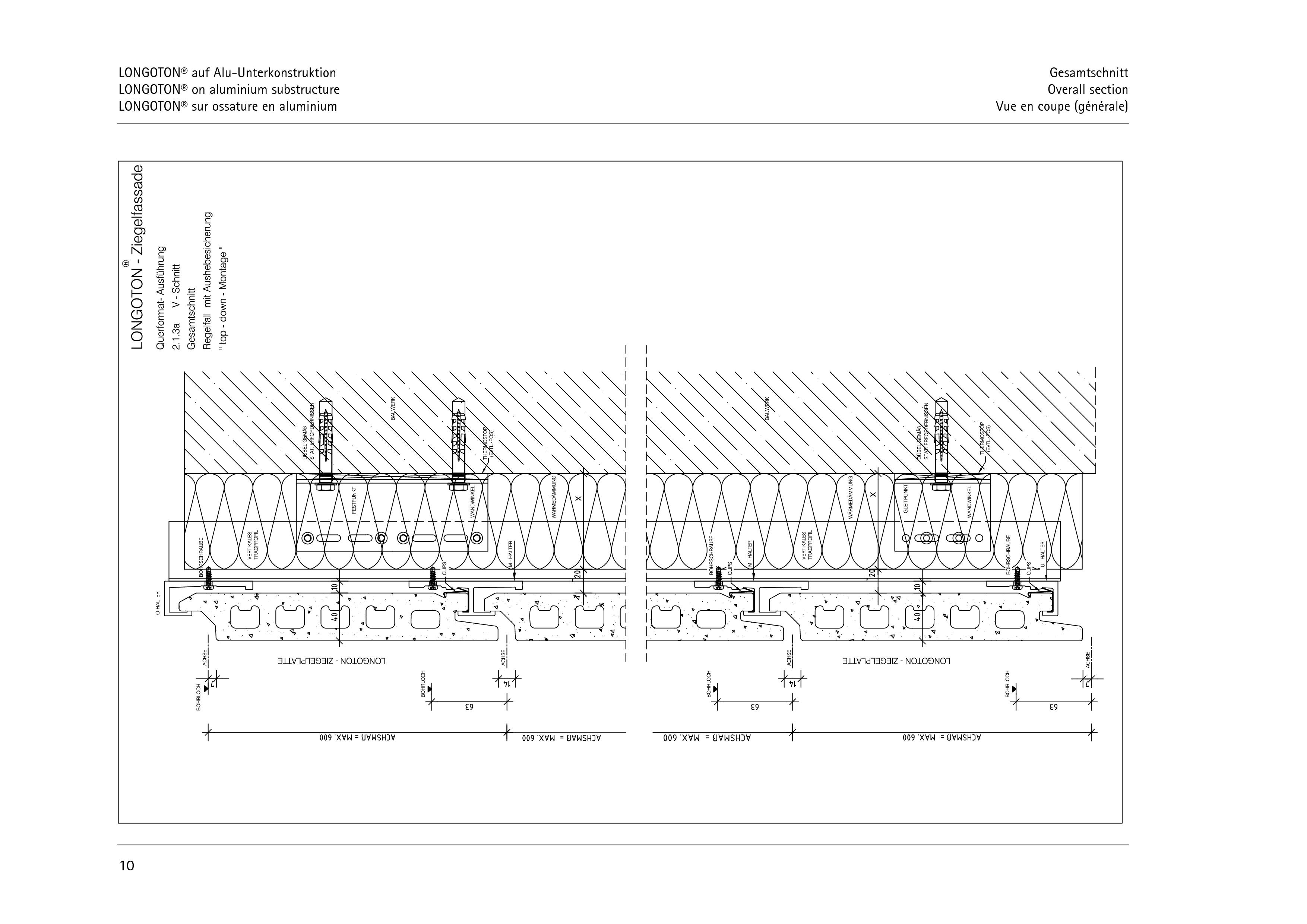 Pagina 10 - CAD-PDF Sisteme de placaje ceramice pentru fatada  ALPHATON Detaliu de montaj LONGOTON