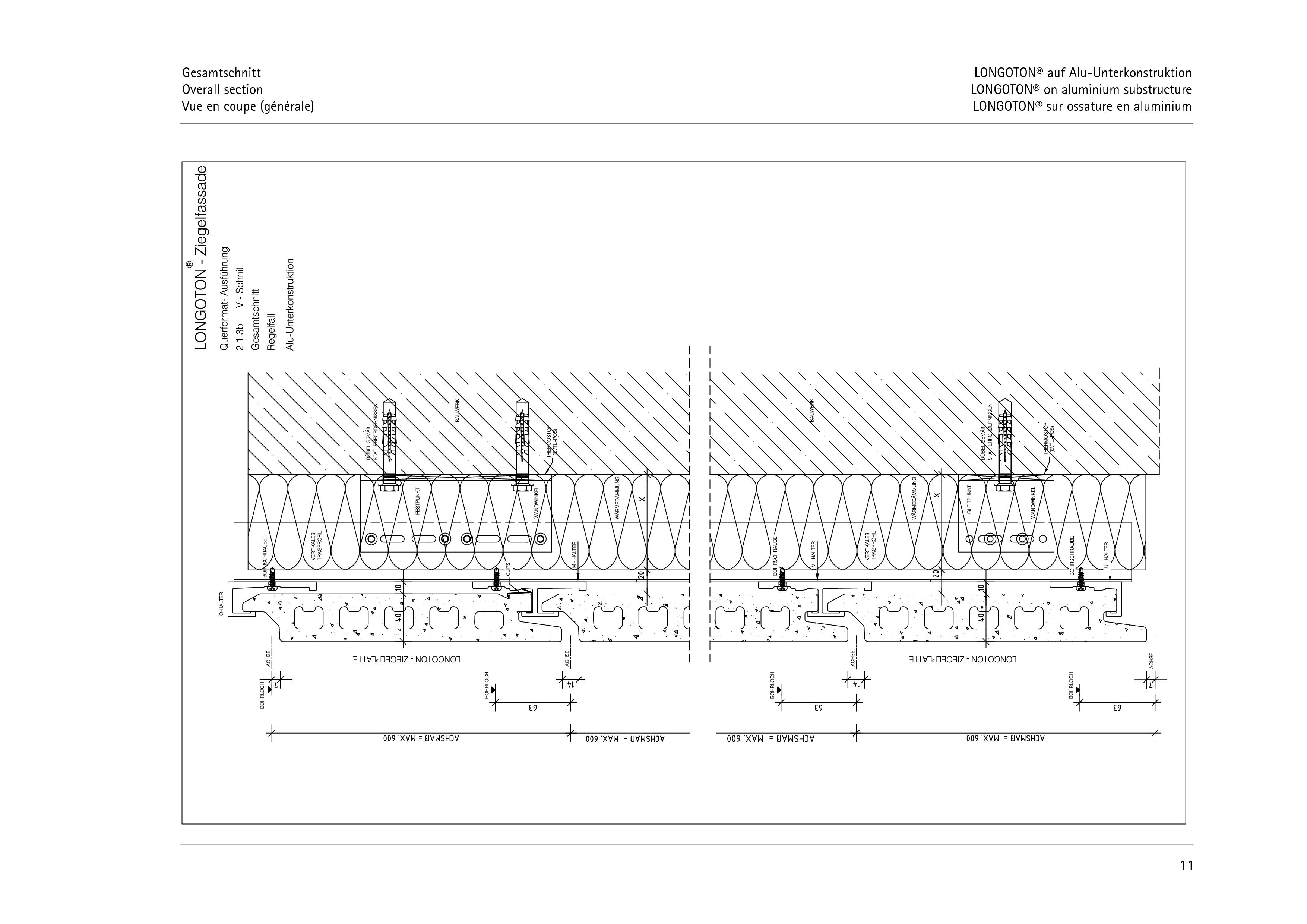 Pagina 11 - CAD-PDF Sisteme de placaje ceramice pentru fatada  ALPHATON Detaliu de montaj LONGOTON