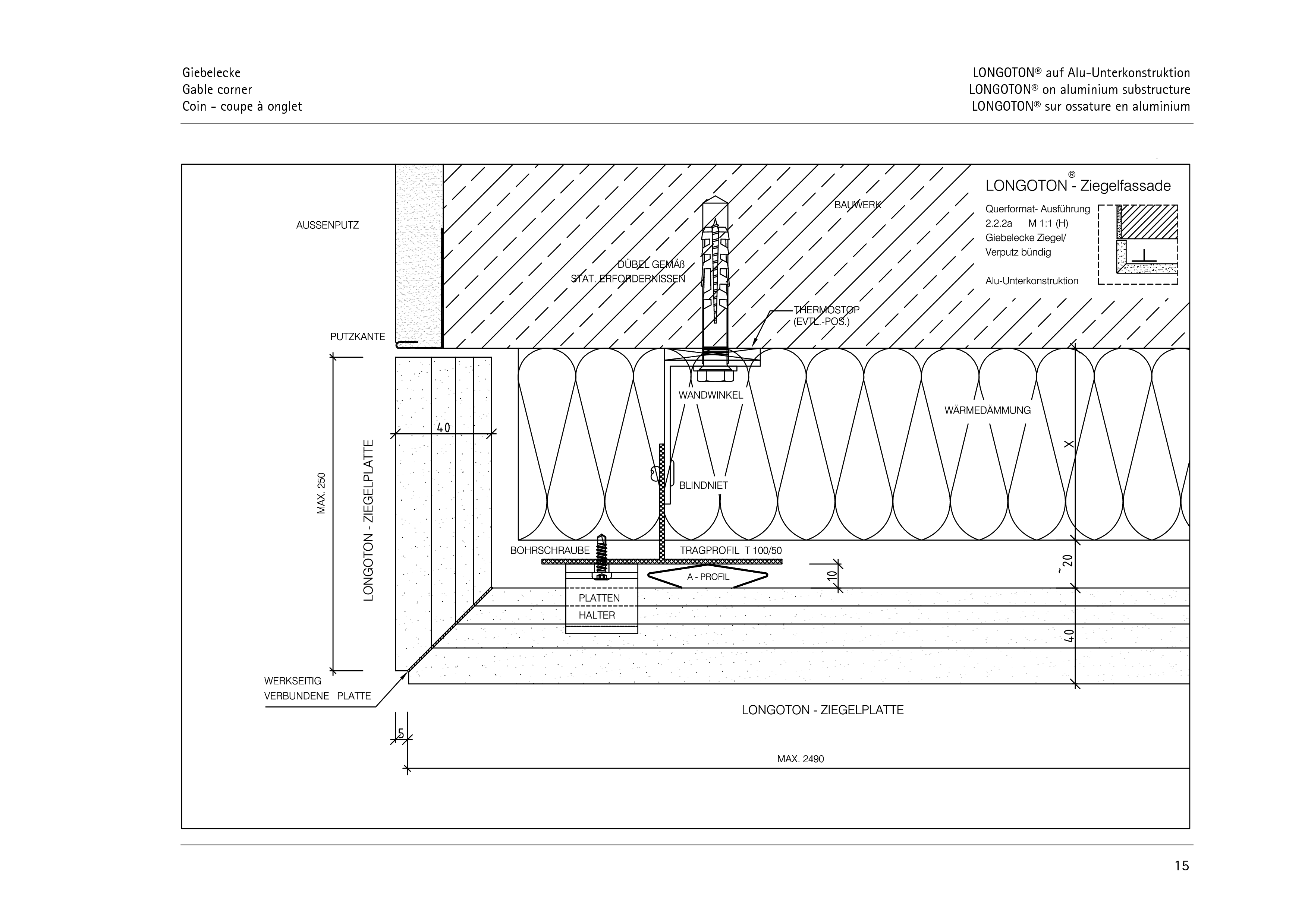 Pagina 15 - CAD-PDF Sisteme de placaje ceramice pentru fatada  ALPHATON Detaliu de montaj LONGOTON